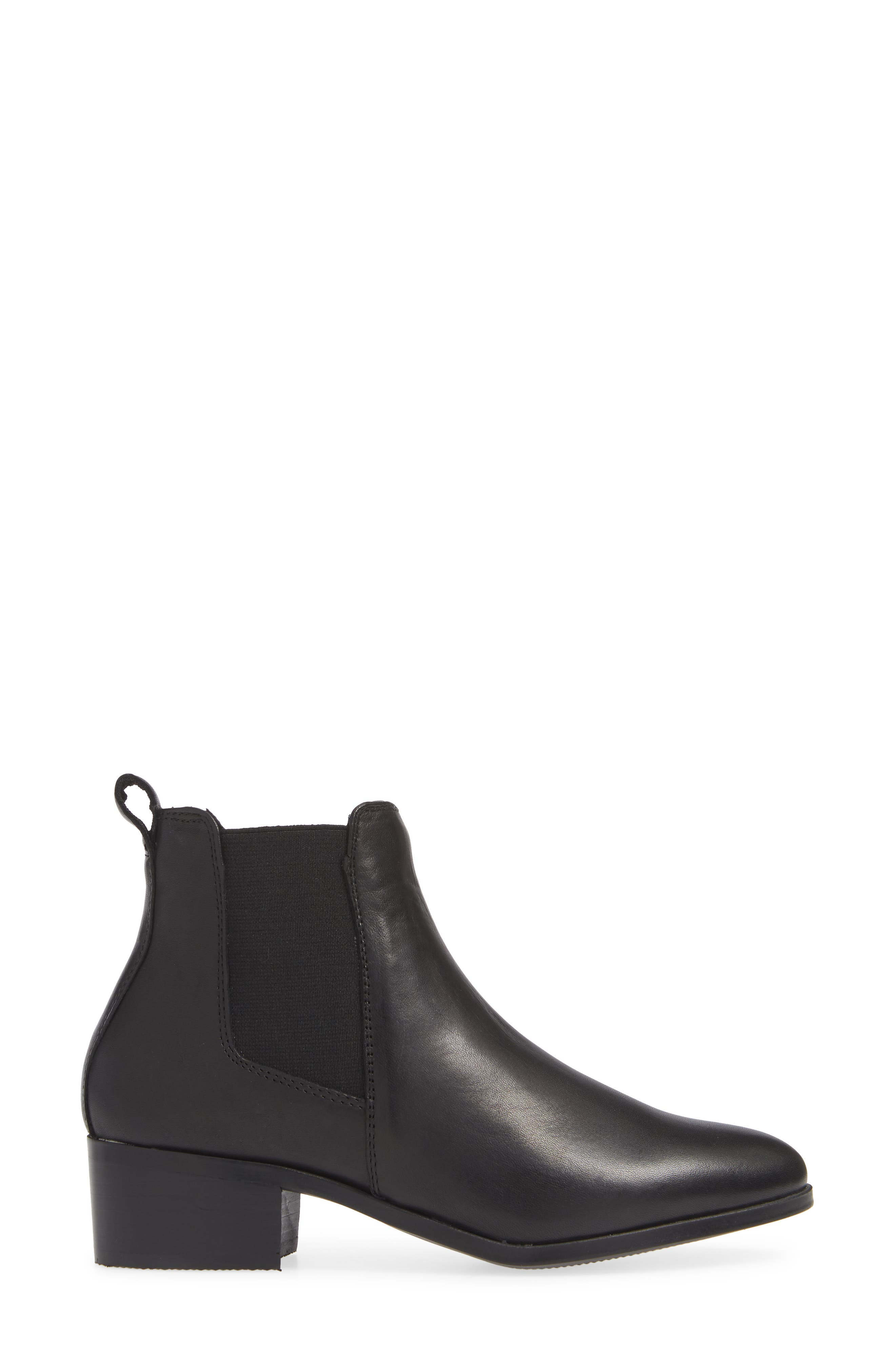 Dover Chelsea Bootie,                             Alternate thumbnail 3, color,                             BLACK LEATHER