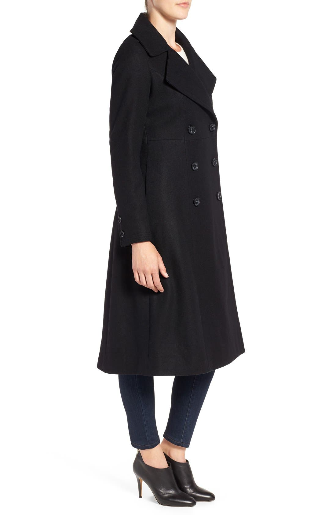 Long Wool Blend Coat,                             Alternate thumbnail 3, color,