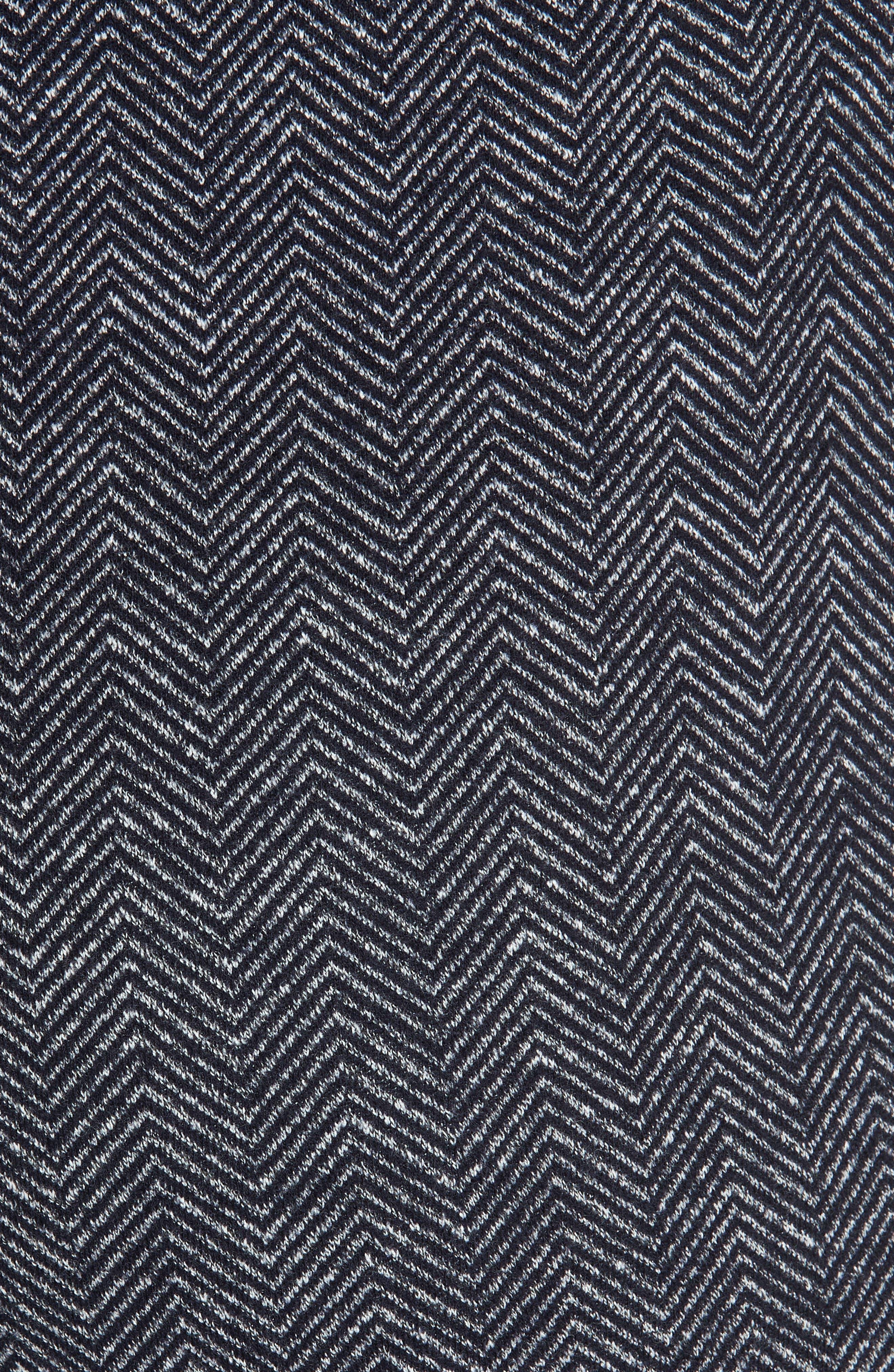 Talbert Chevron Knit Wide Leg Pants,                             Alternate thumbnail 5, color,                             NAVY MULTI