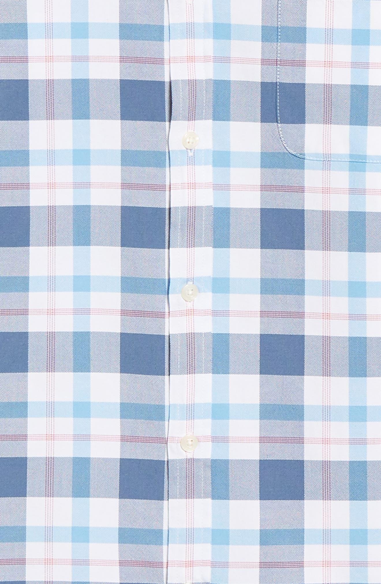 Tucker Slim Fit Slim Fit Plaid Sport Shirt,                             Alternate thumbnail 6, color,                             631
