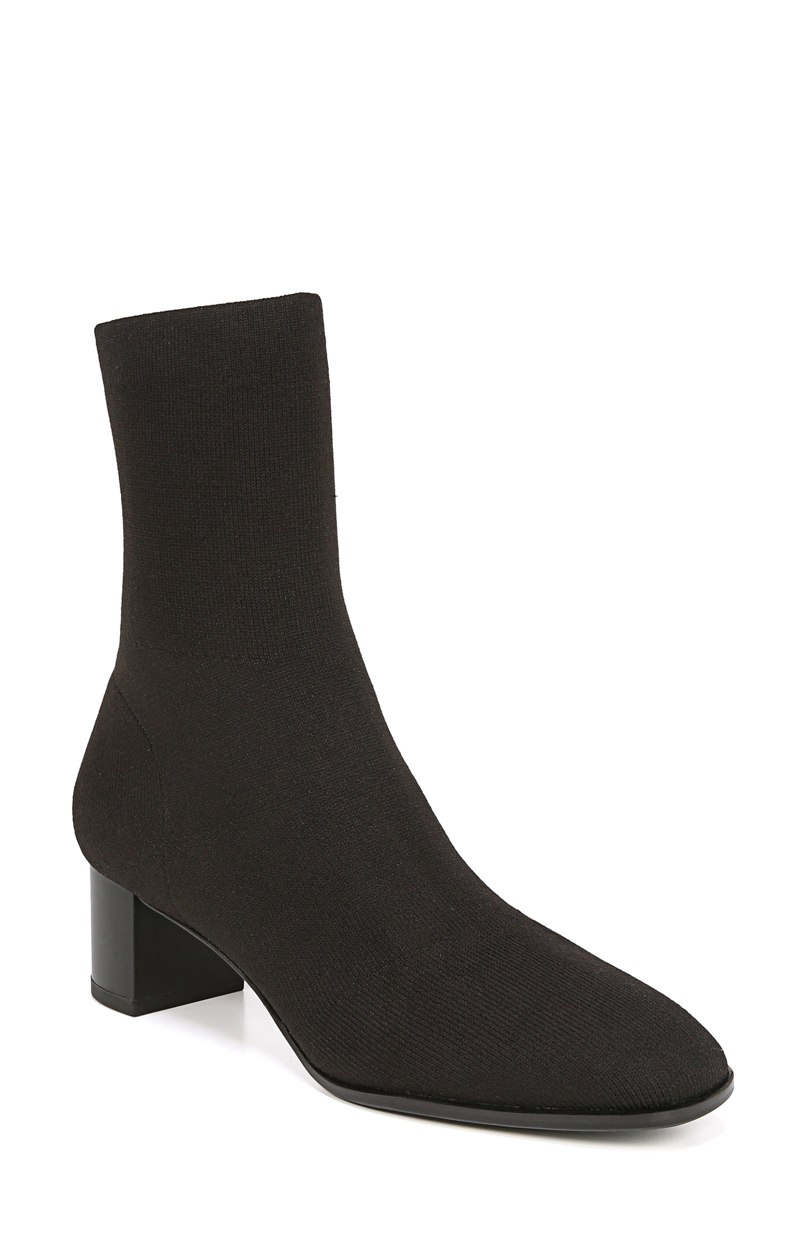 VIA SPIGA Women'S Verena Stretch Knit Sock Booties in Black