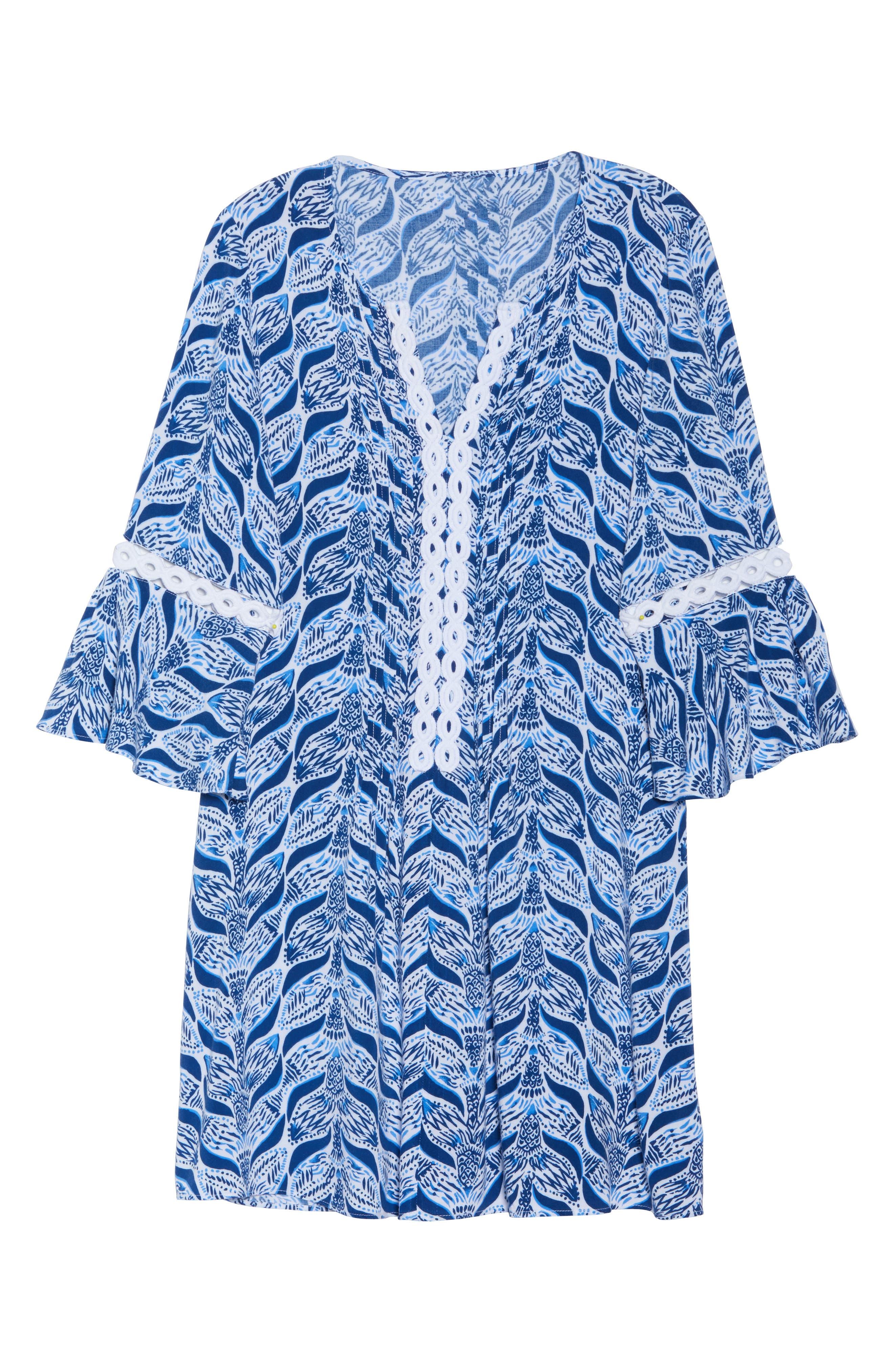 Hollie Tunic Dress,                             Alternate thumbnail 6, color,                             RESORT WHITE A MERMAIDS TAIL