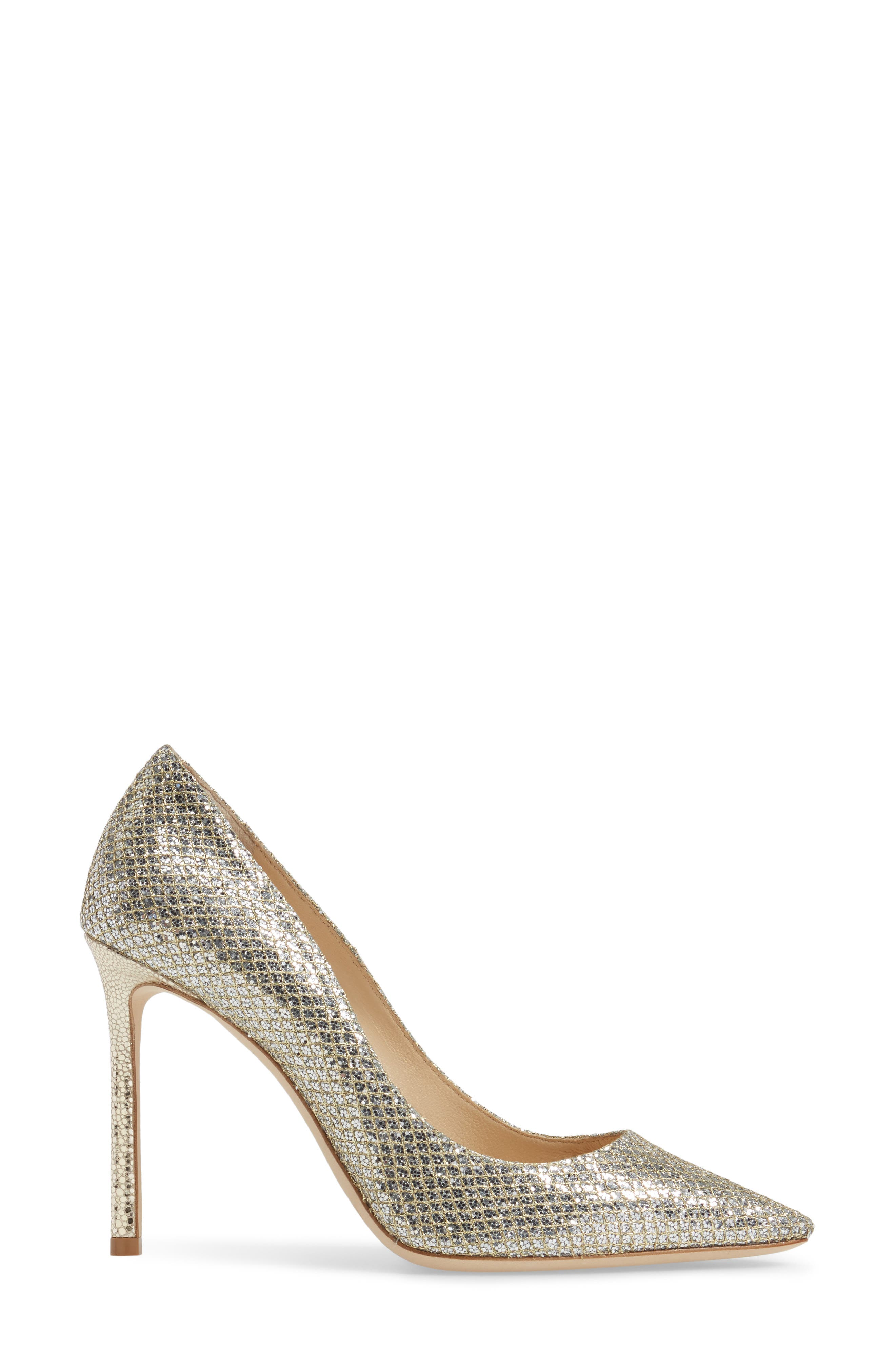 Romy Pointy Toe Pump,                             Alternate thumbnail 3, color,                             CHAMPAGNE