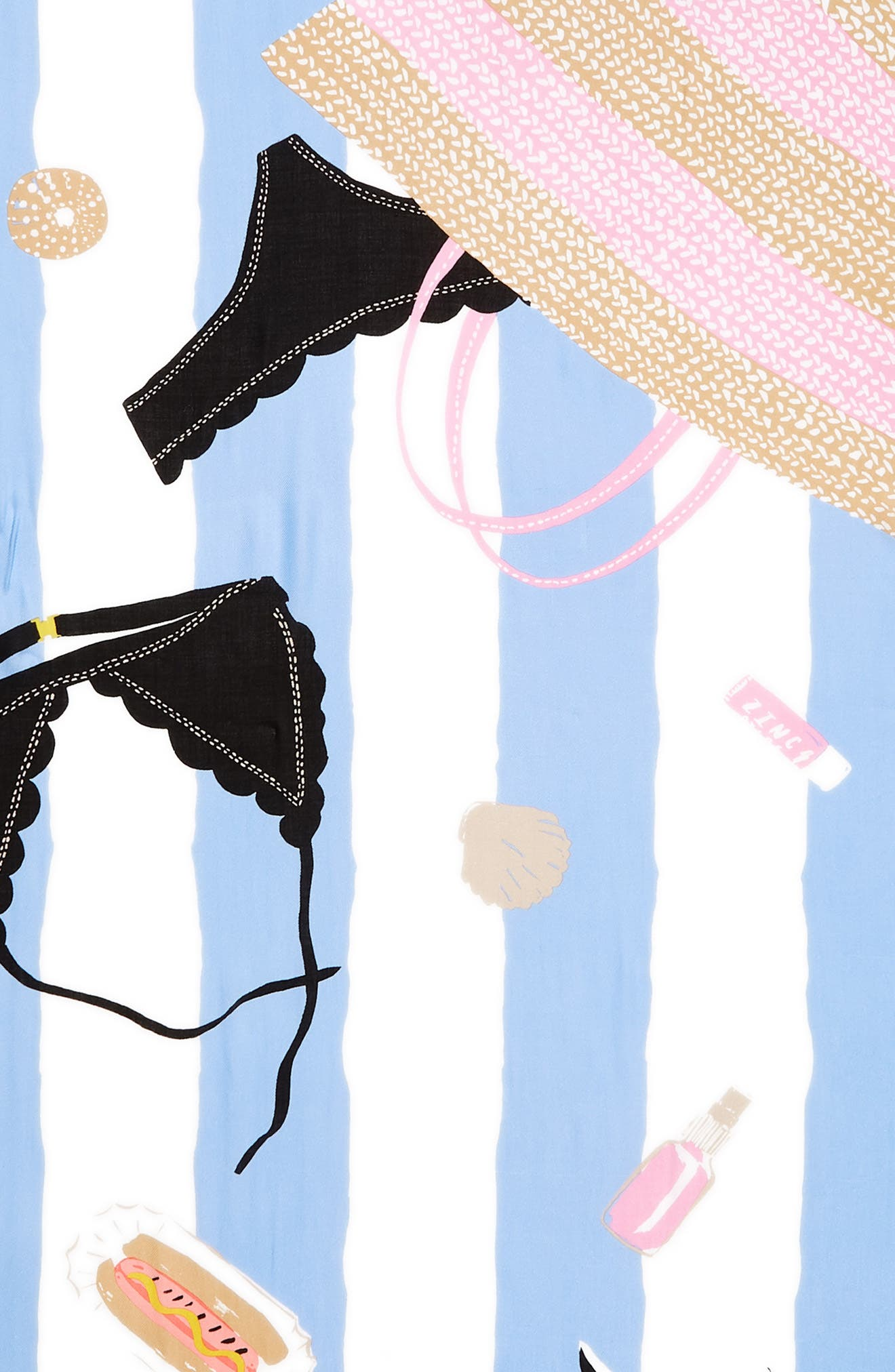 beach towel scarf,                             Alternate thumbnail 4, color,                             CREAM