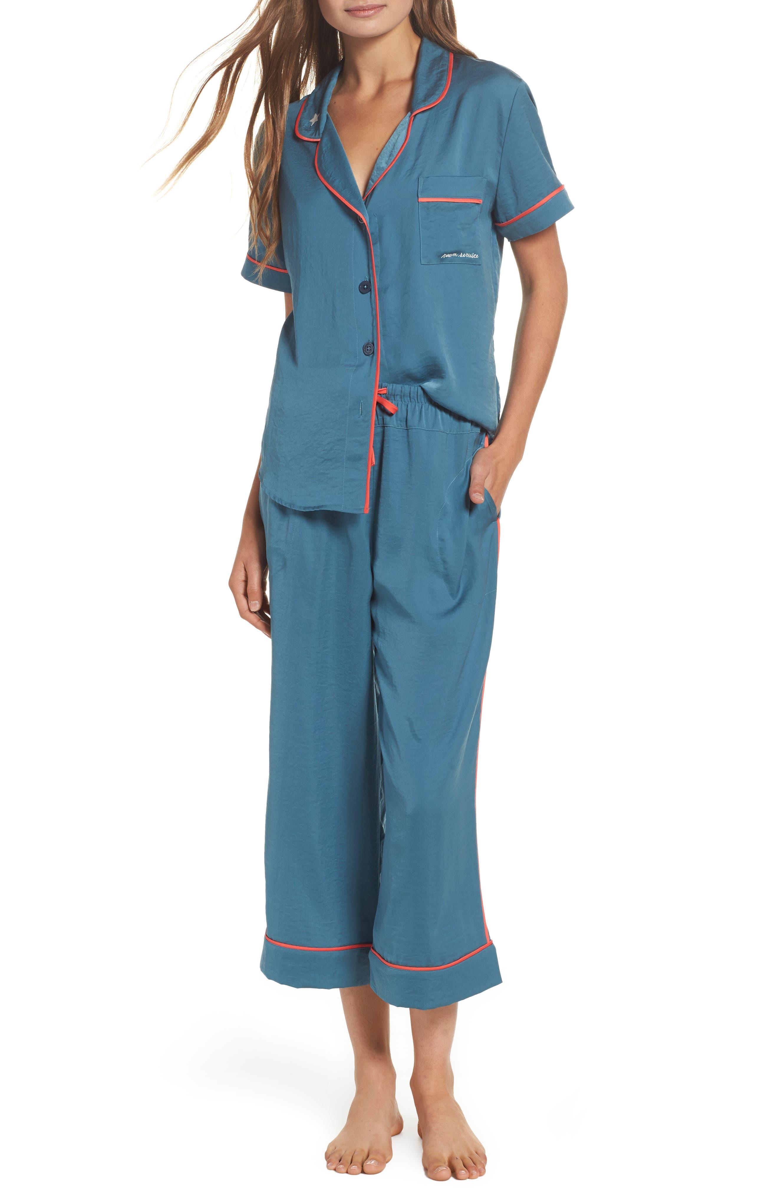 Satin Pajamas,                         Main,                         color, 450