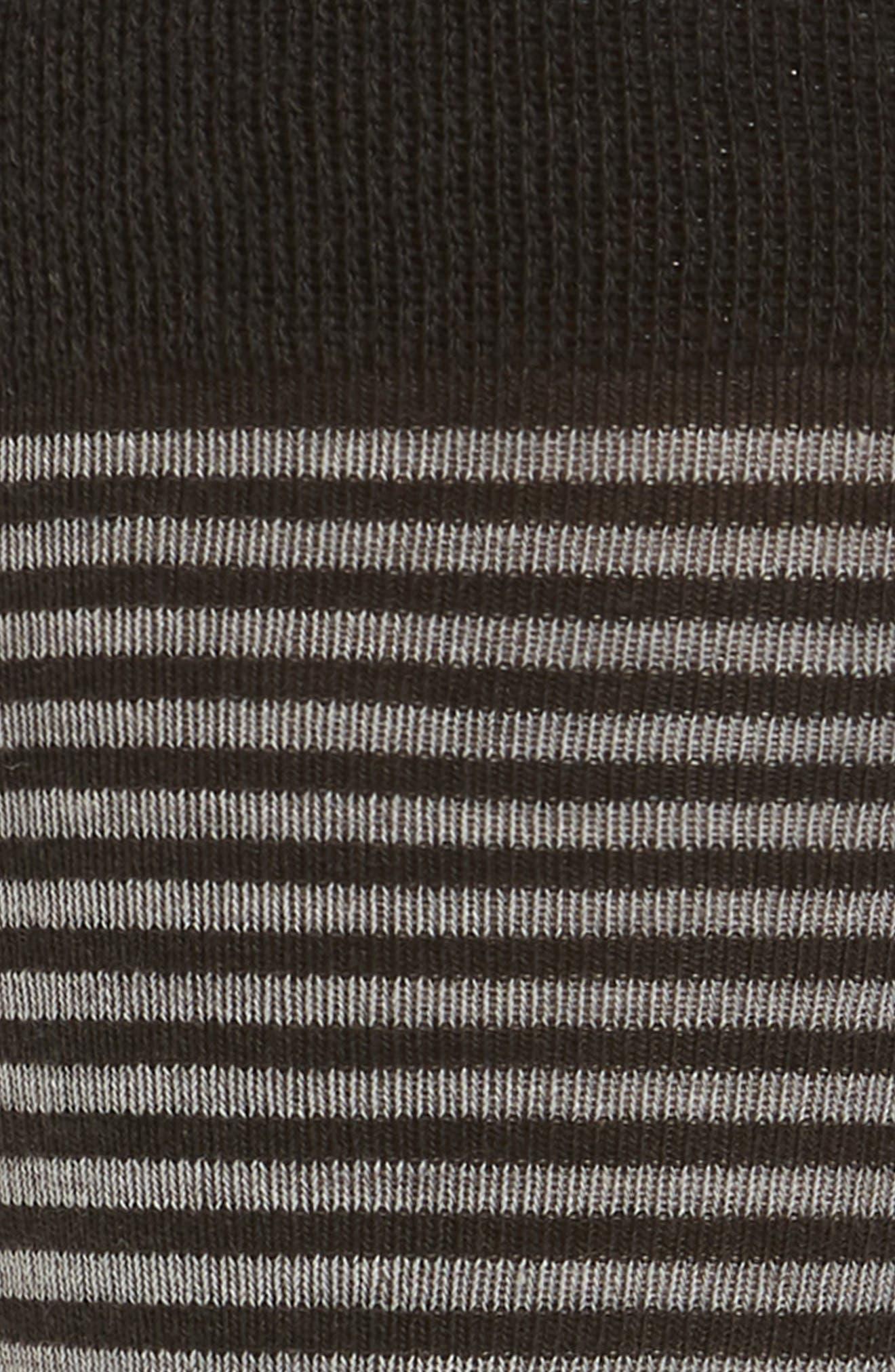 Striped Crew Socks,                             Alternate thumbnail 2, color,                             CHARCOAL