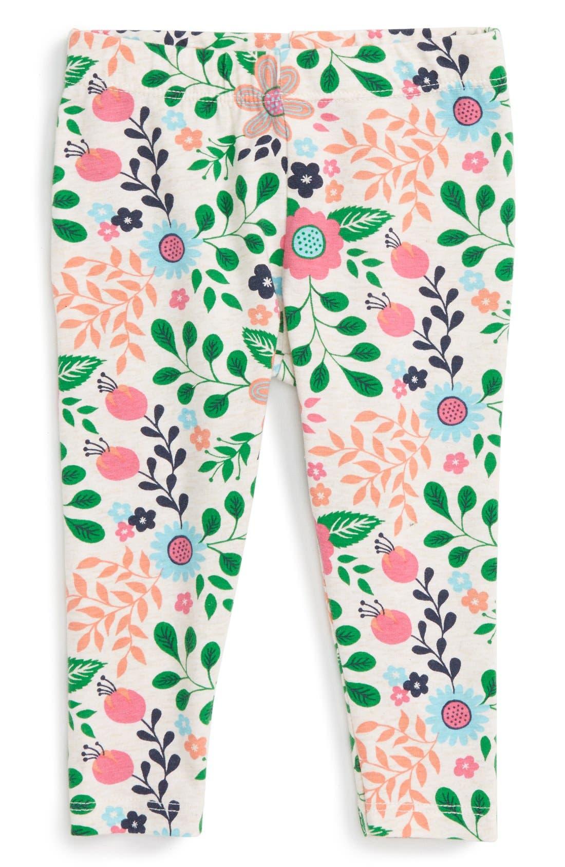 Floral Print Leggings,                             Main thumbnail 4, color,