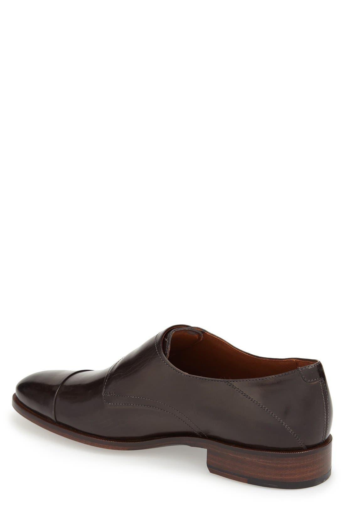 'Nolen' Double Monk Strap Shoe,                             Alternate thumbnail 2, color,                             020