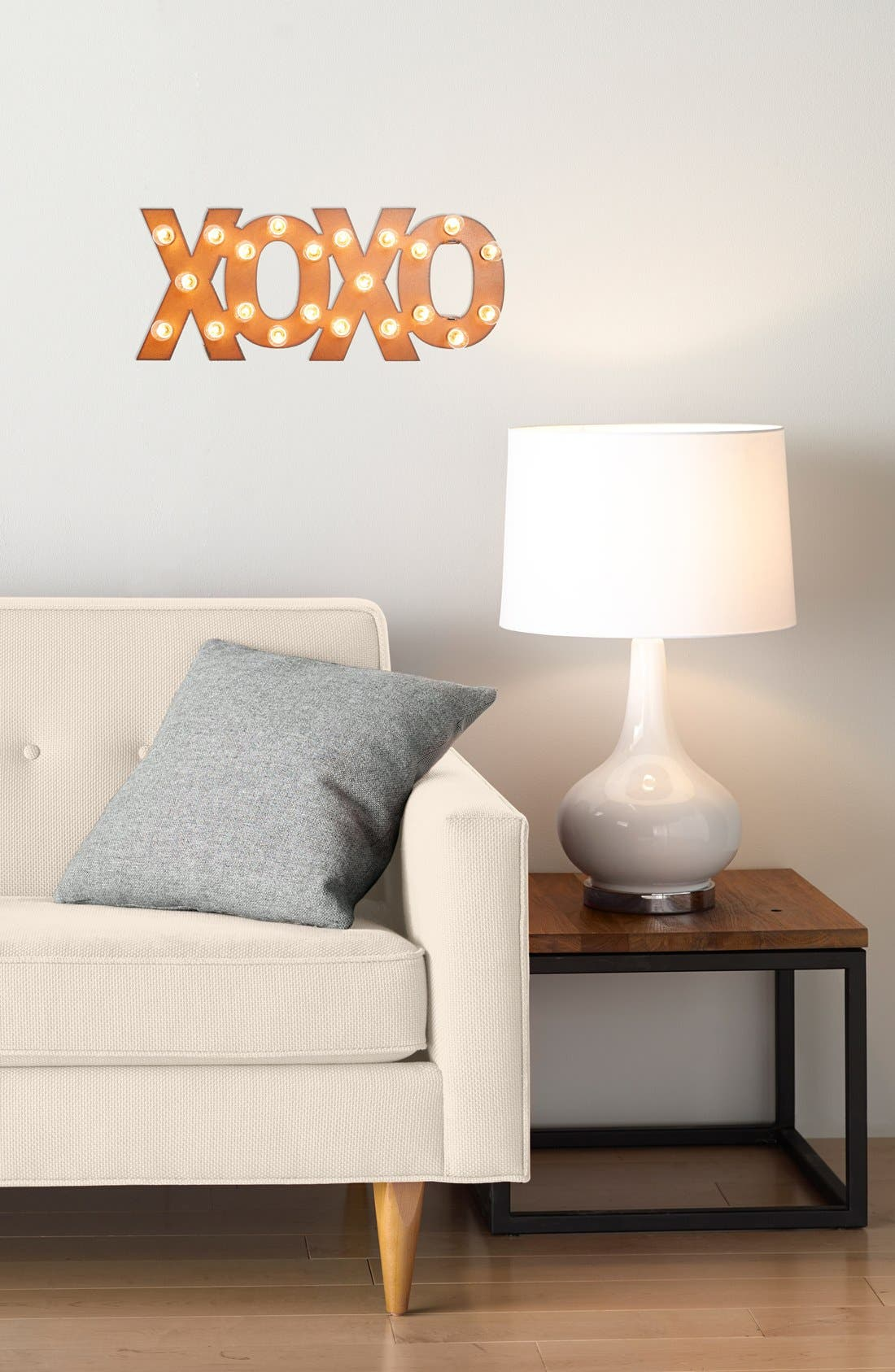 'Marquee Lights - XOXO' Recycled Metal Sign,                             Alternate thumbnail 2, color,                             220