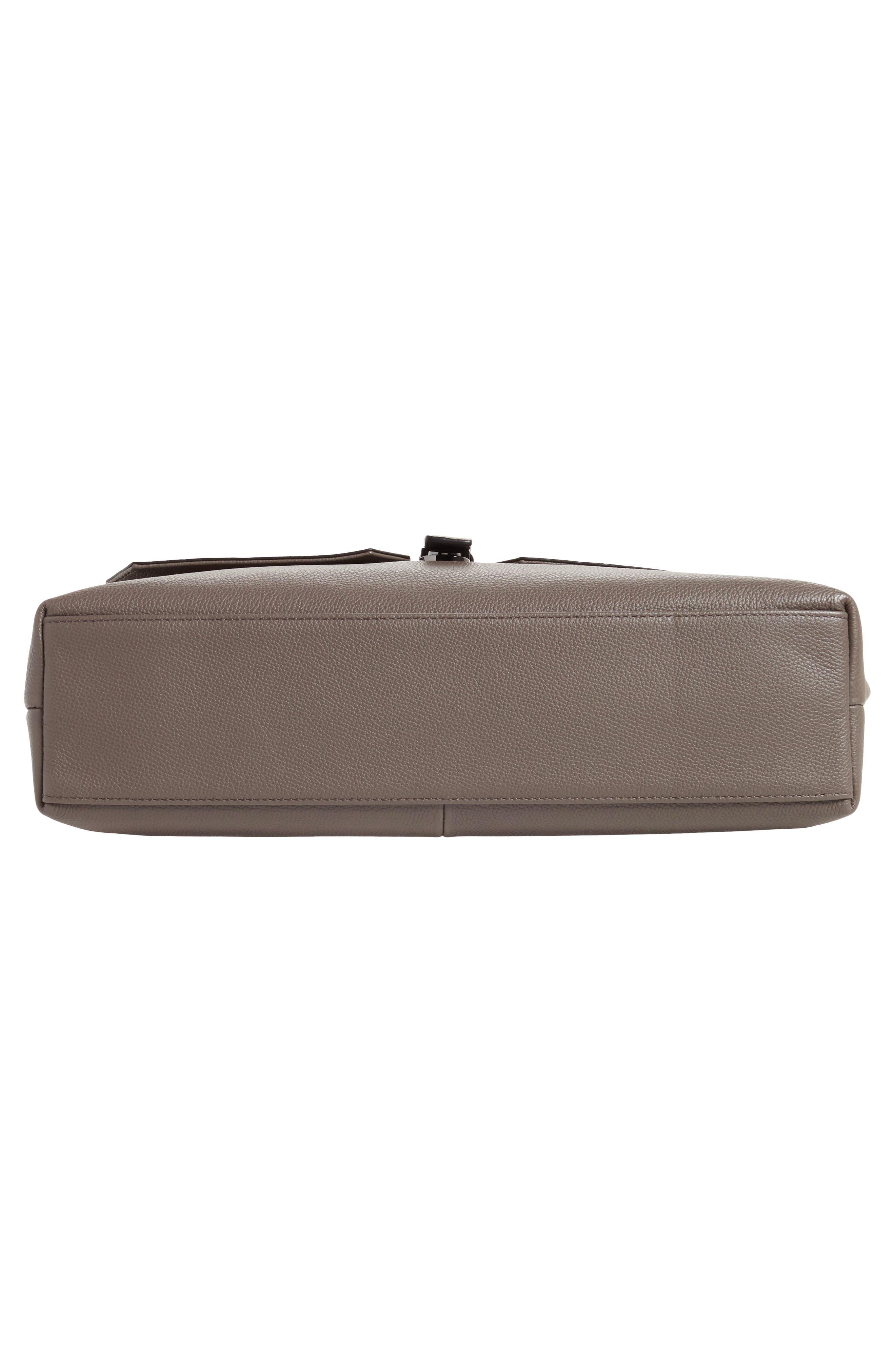 Ted Baker Sandune Leather Messenger Bag,                             Alternate thumbnail 6, color,                             030