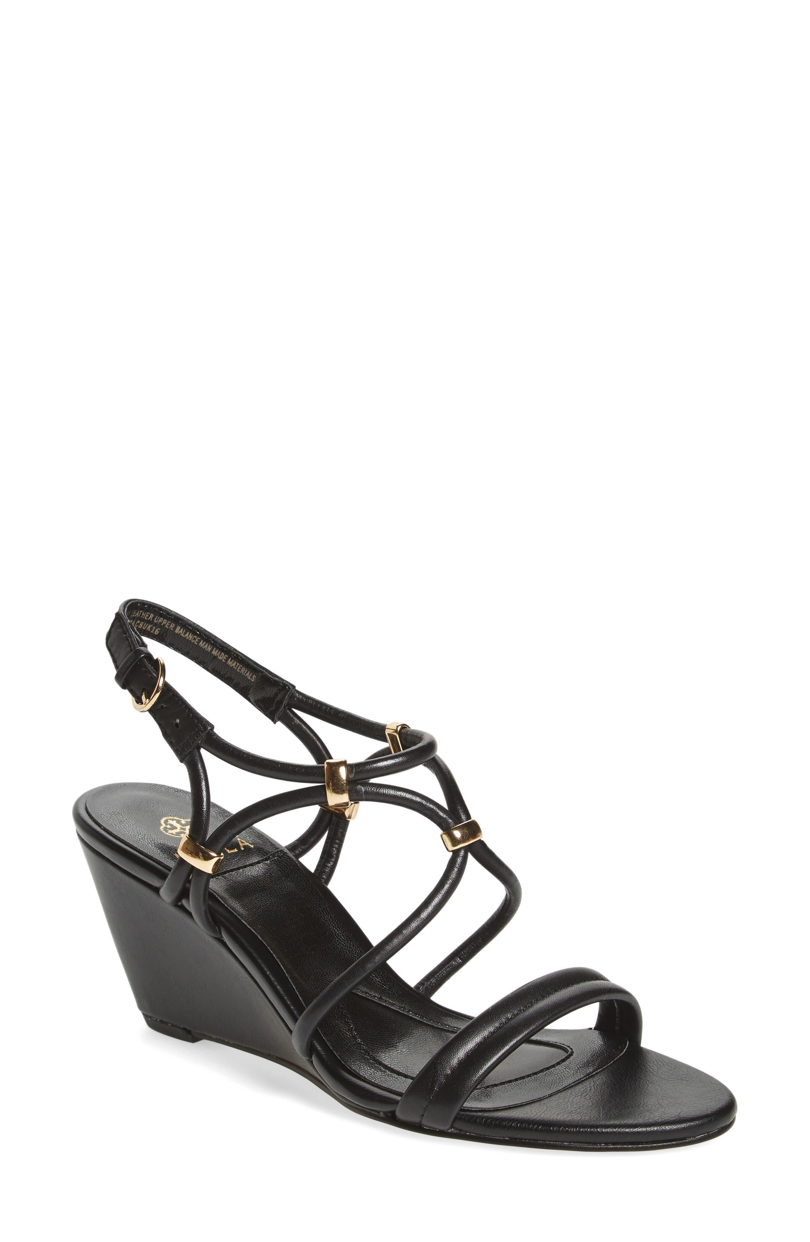 Farah Wedge Sandal,                         Main,                         color, 001