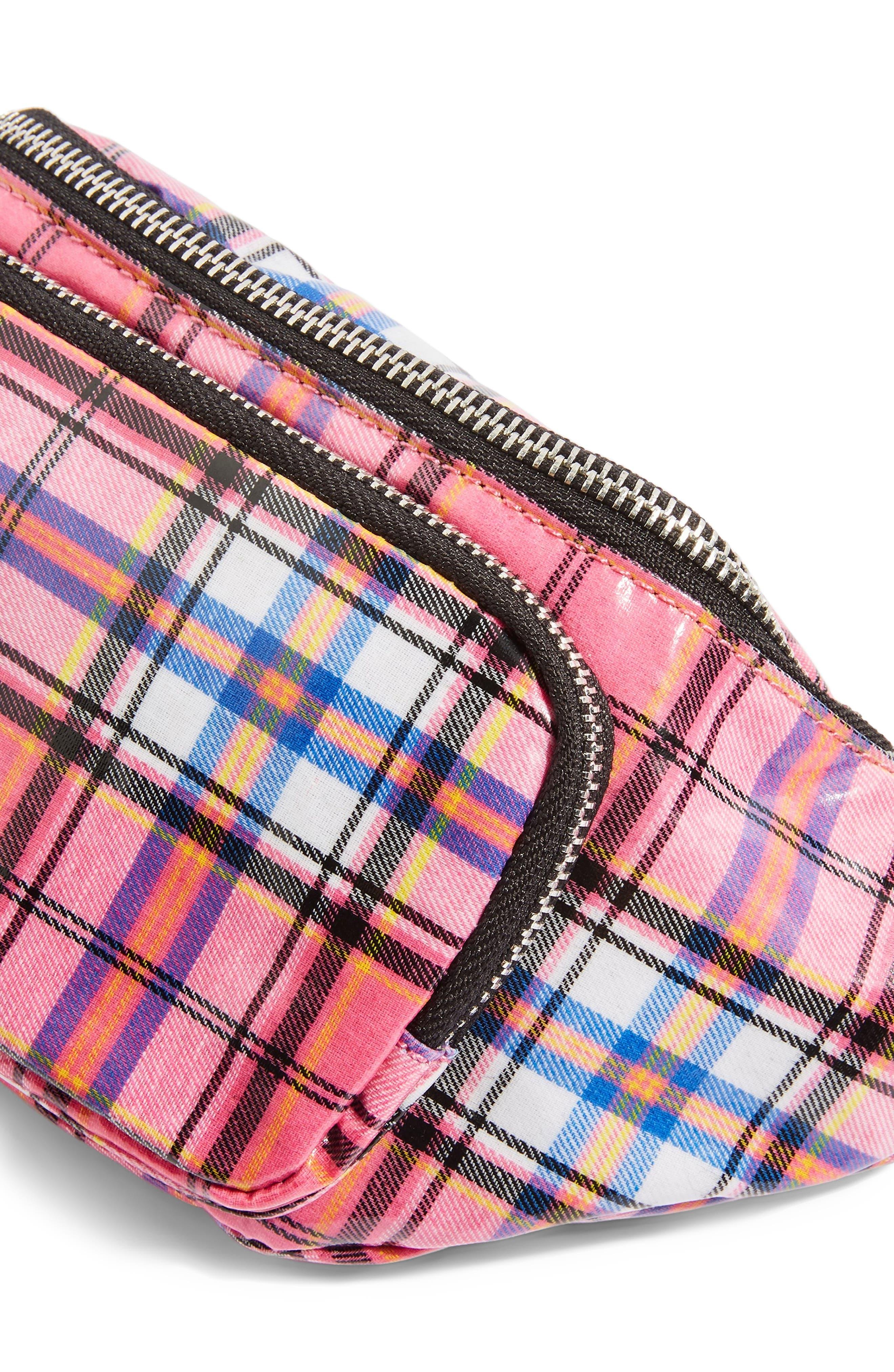 Callie Check Belt Bag,                             Alternate thumbnail 3, color,                             650