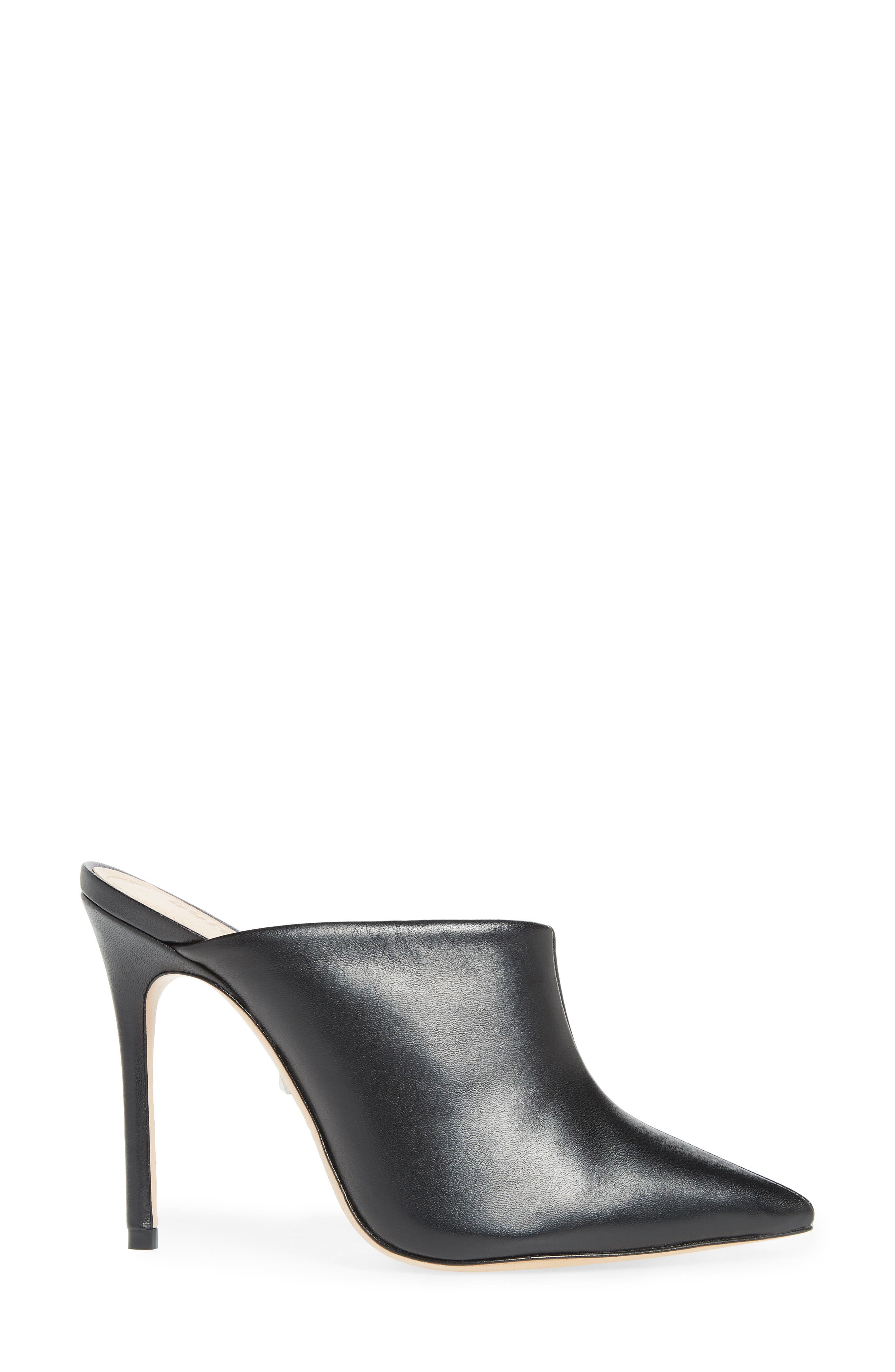 Quincy Stiletto Mule,                             Alternate thumbnail 3, color,                             BLACK