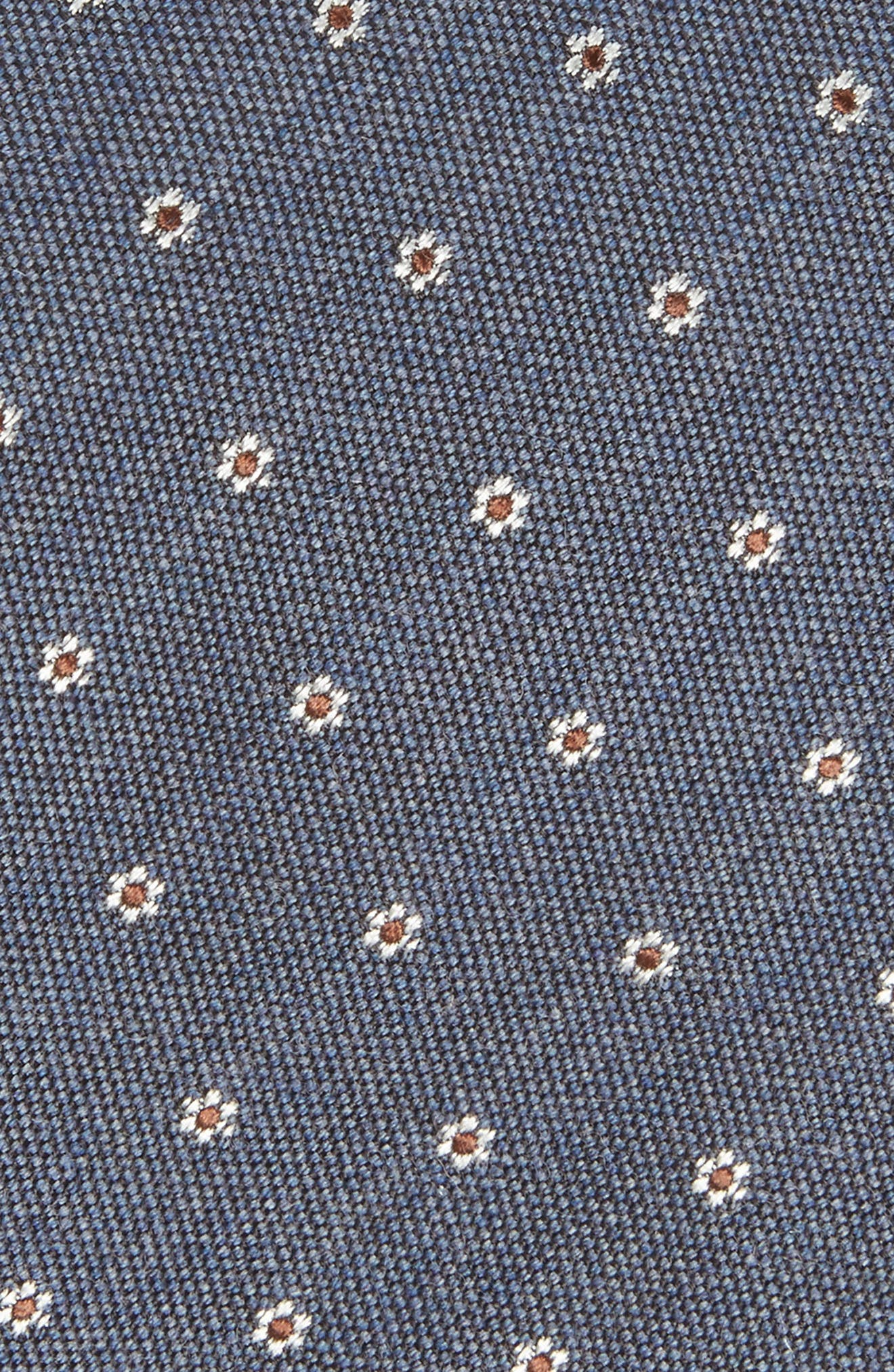 Heather Floral Silk & Wool Tie,                             Alternate thumbnail 9, color,
