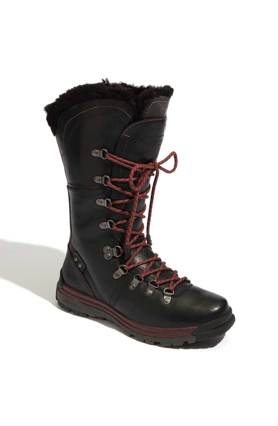 MERRELL,                             'Natalya' Waterproof Boot,                             Main thumbnail 1, color,                             001