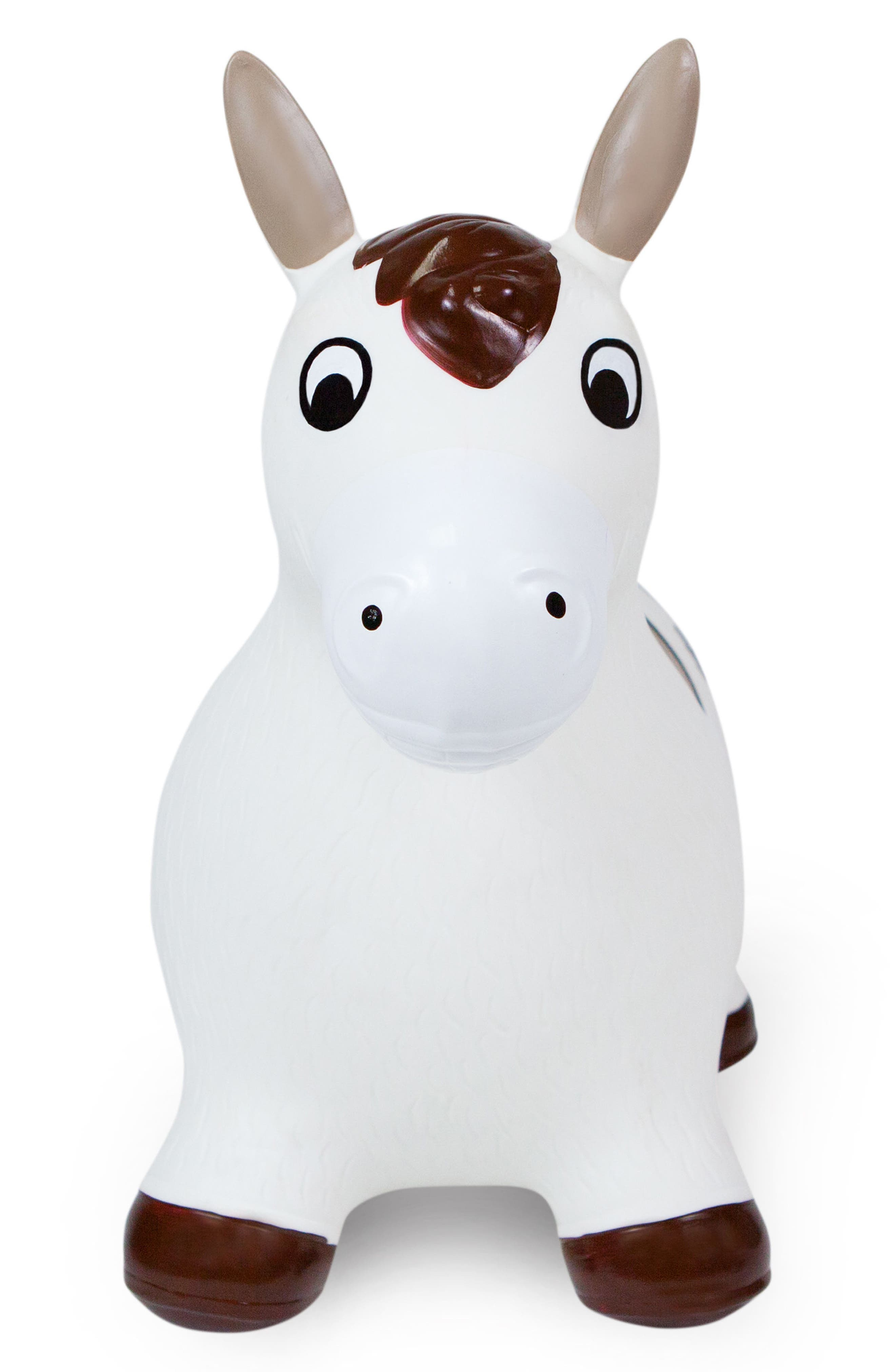 Lucky Bouncy Ride-On Horse Toy,                         Main,                         color, WHITE/ BROWN
