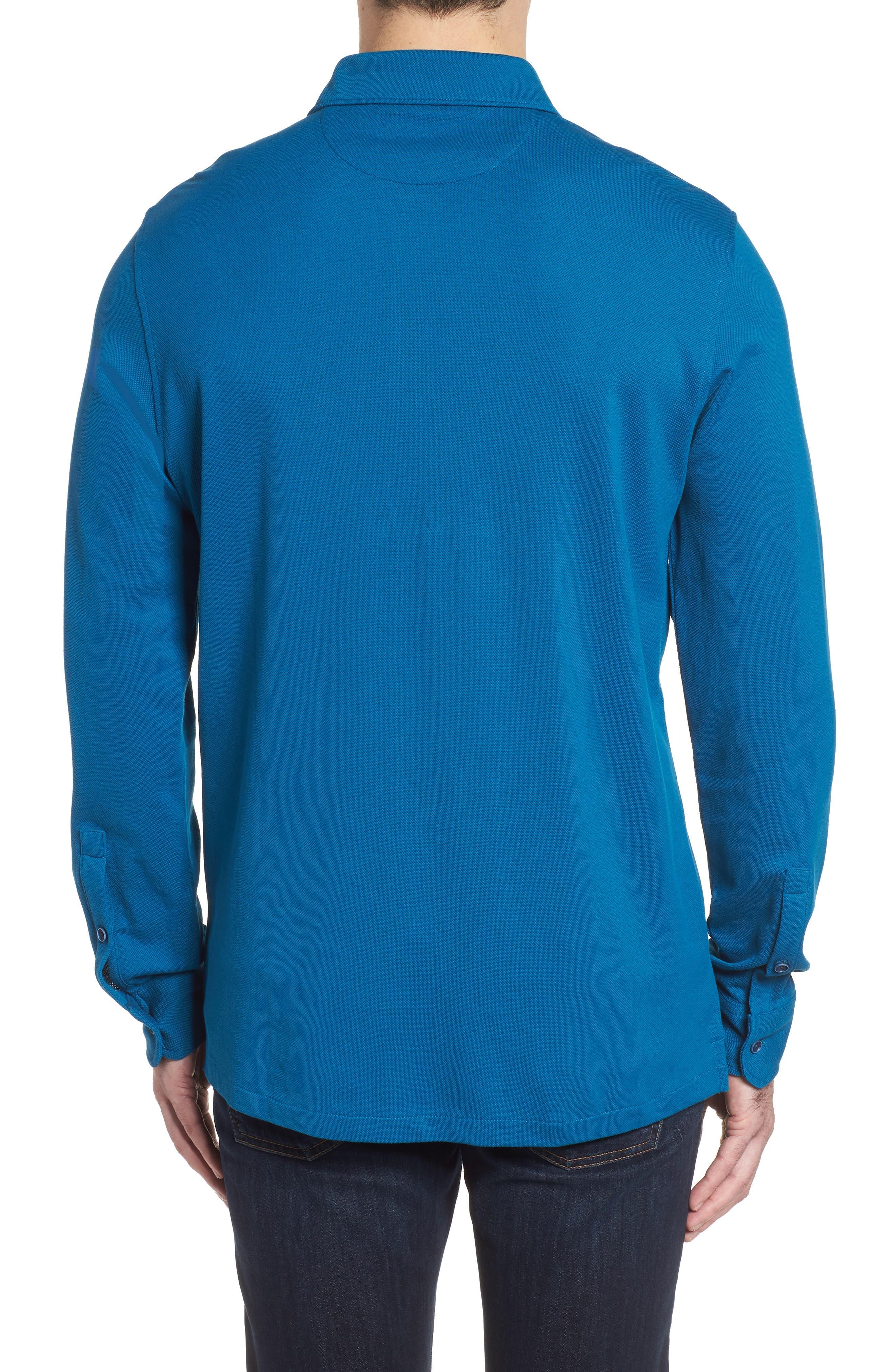 Regular Fit Knit Sport Shirt,                             Alternate thumbnail 2, color,                             445