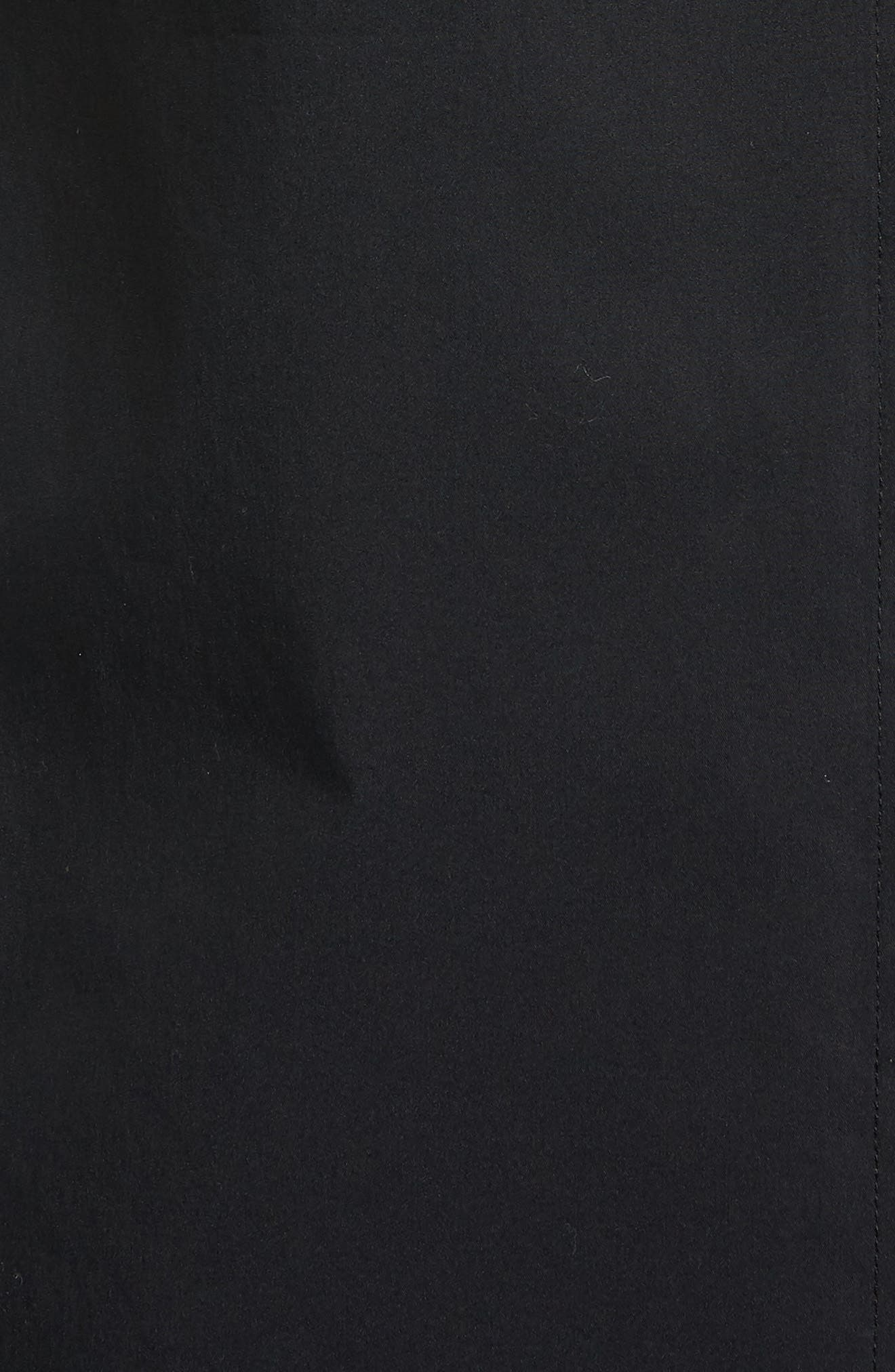Tie Front Poplin Shirt,                             Alternate thumbnail 6, color,                             001
