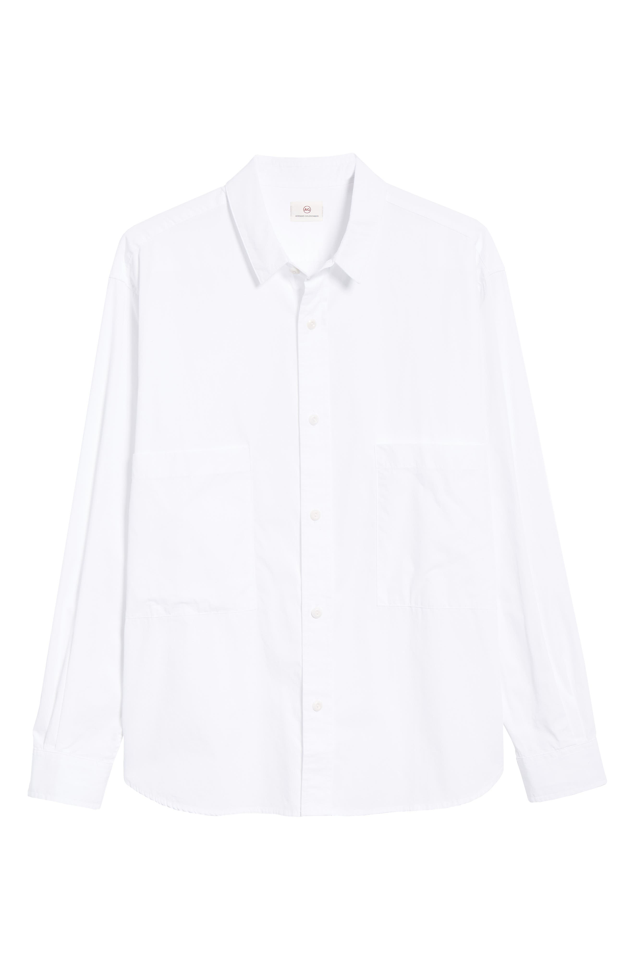 Shiro Oversize Pockets Regular Fit Sport Shirt,                             Alternate thumbnail 5, color,                             TRUE WHITE