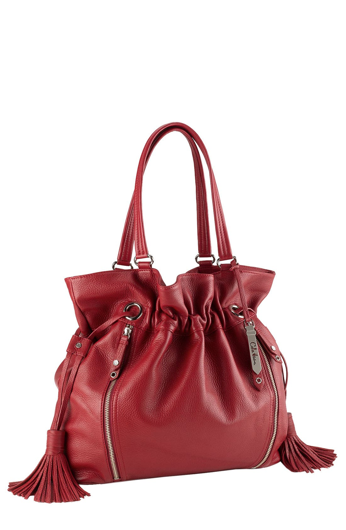 'Bailey' Pebbled Leather Drawstring Tote,                             Main thumbnail 10, color,