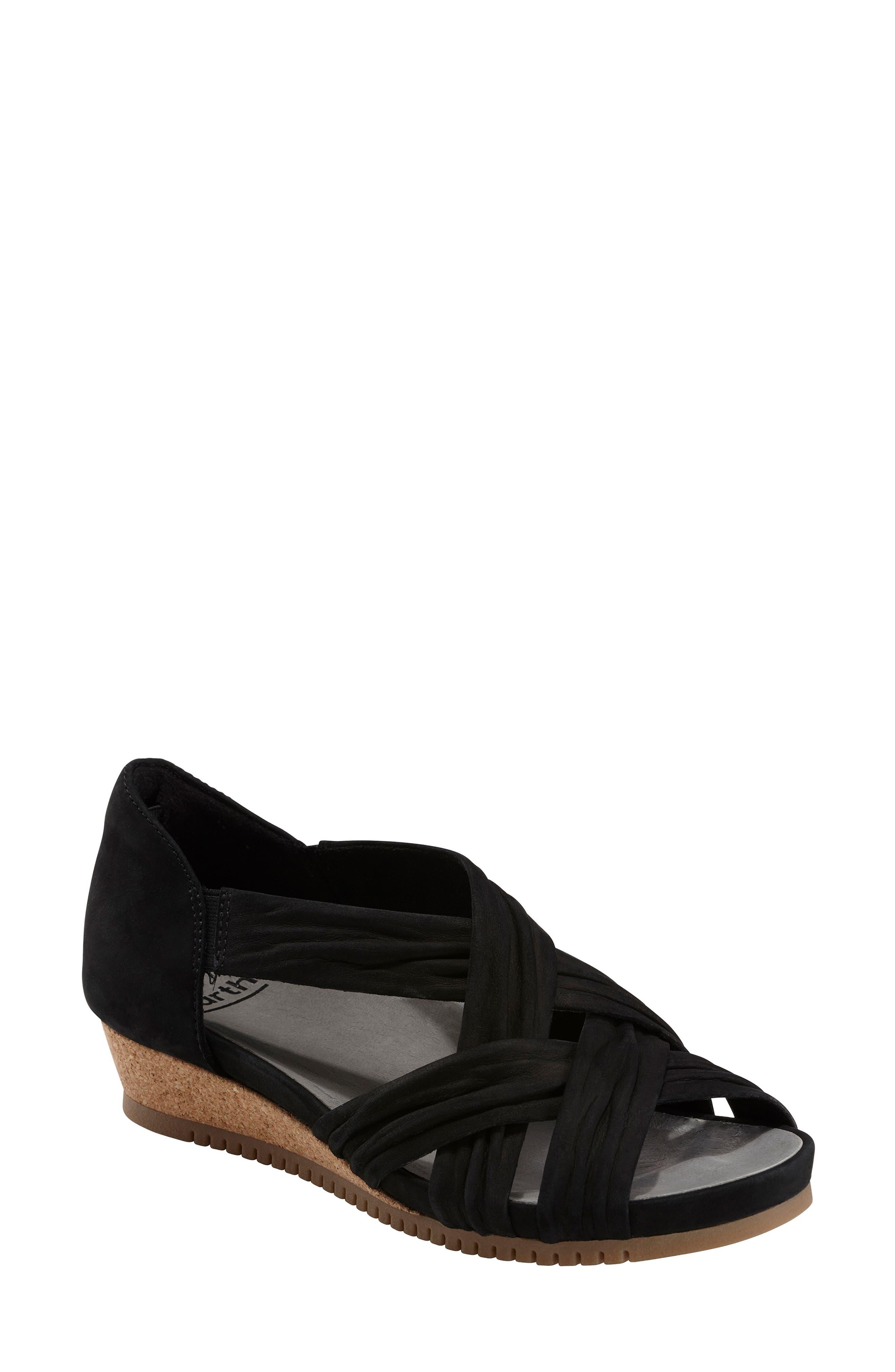 Gemini Sandal, Main, color, BLACK LEATHER
