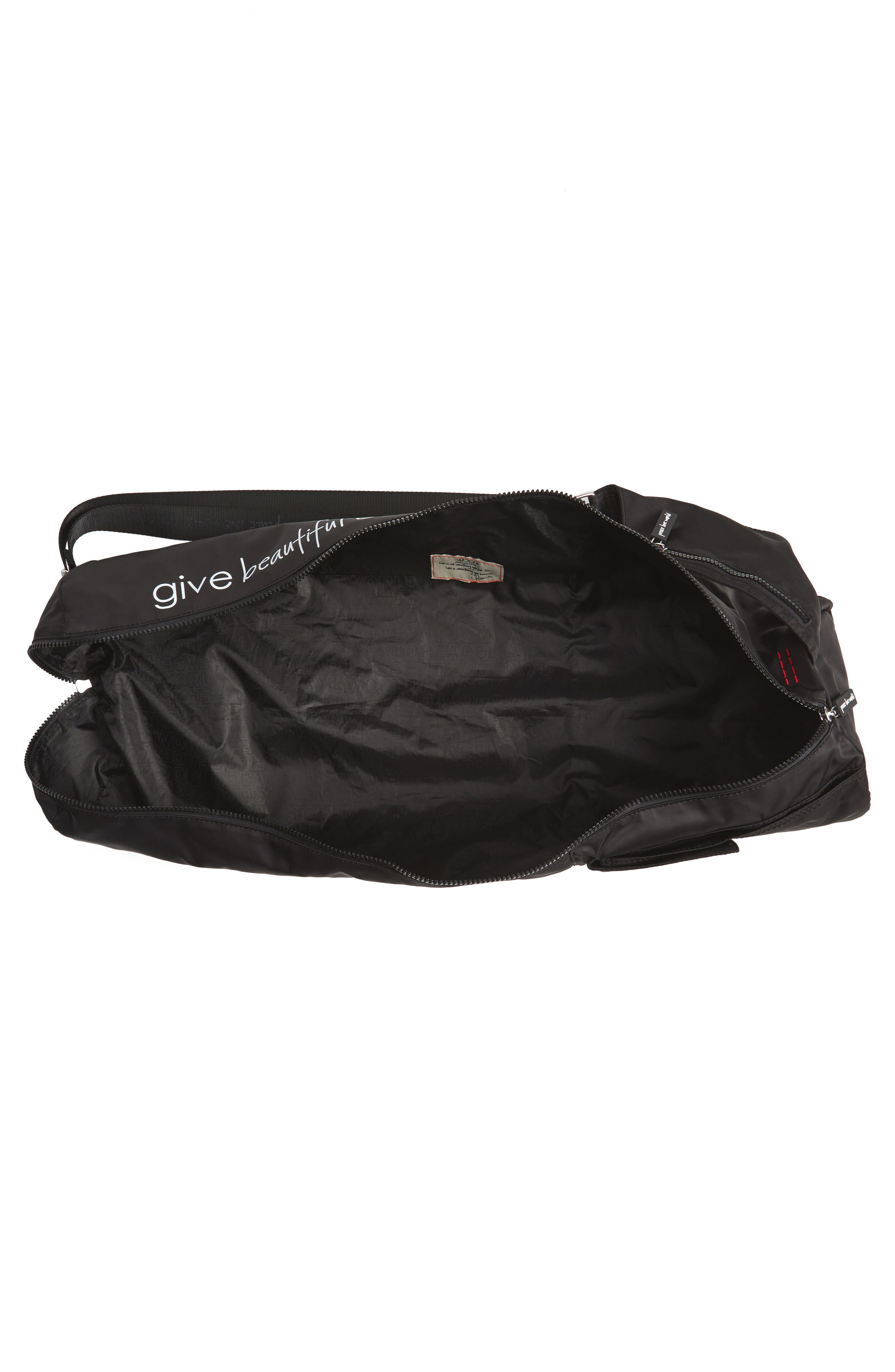 Nylon Yoga Bag,                             Alternate thumbnail 4, color,                             001