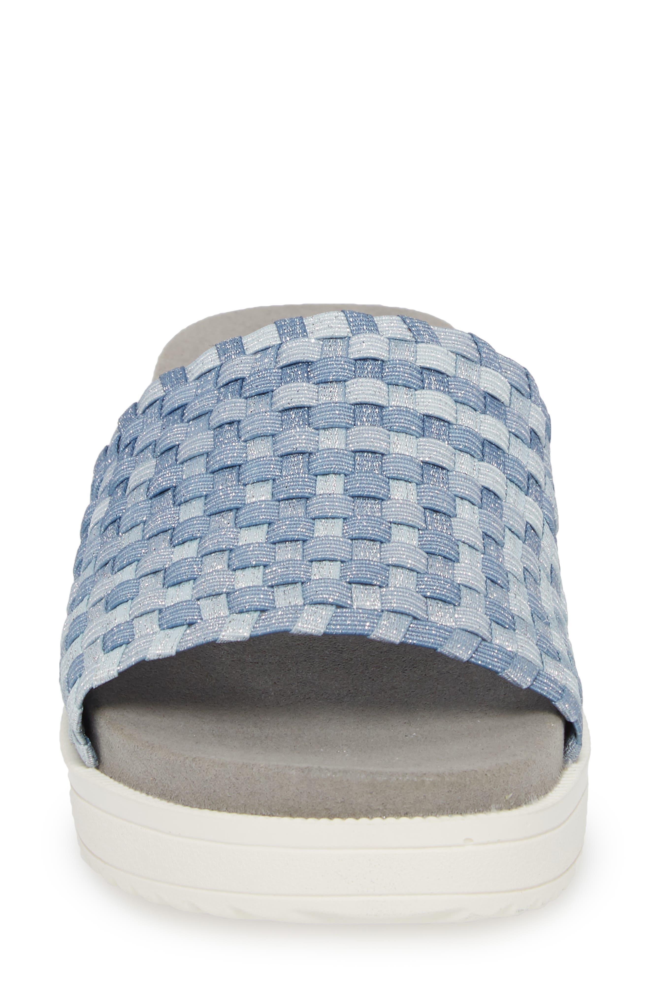 BERNIE MEV.,                             Capri Slide Sandal,                             Alternate thumbnail 4, color,                             CLOUD SHIMMER FABRIC
