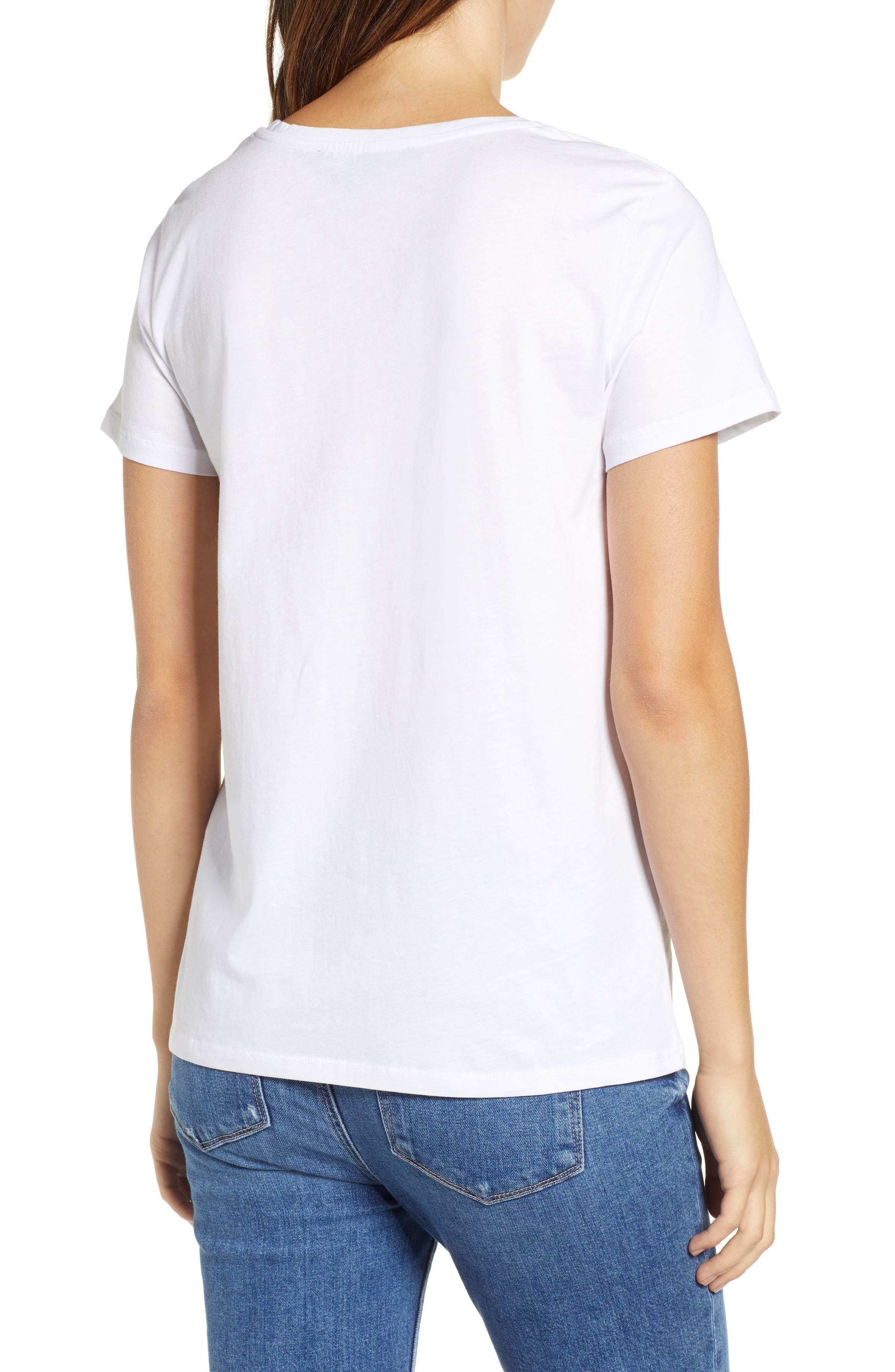 Amour Graphic Tee,                             Alternate thumbnail 2, color,                             WHITE