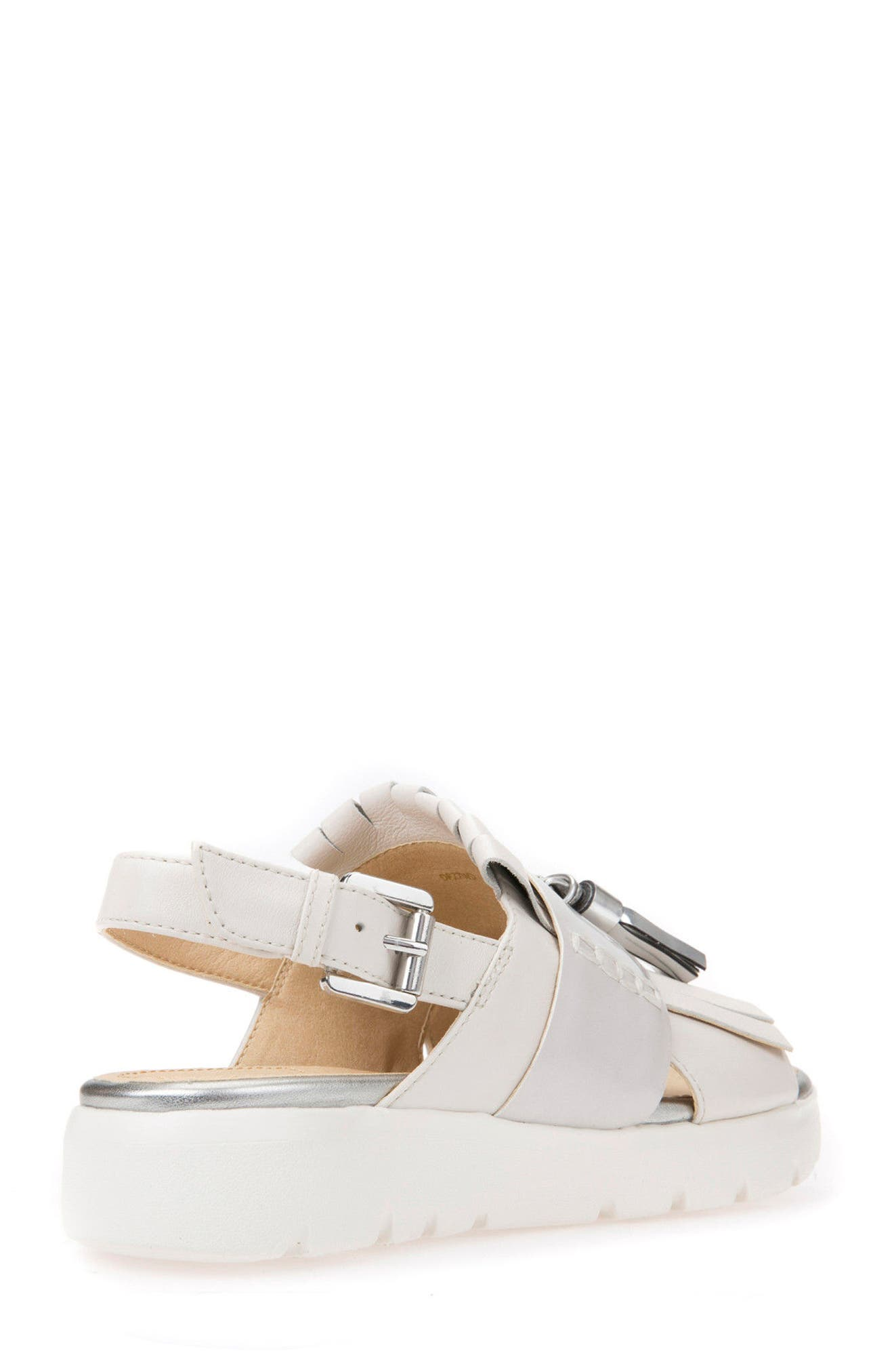Amalitha Platform Sandal,                             Alternate thumbnail 2, color,                             OFF WHITE LEATHER