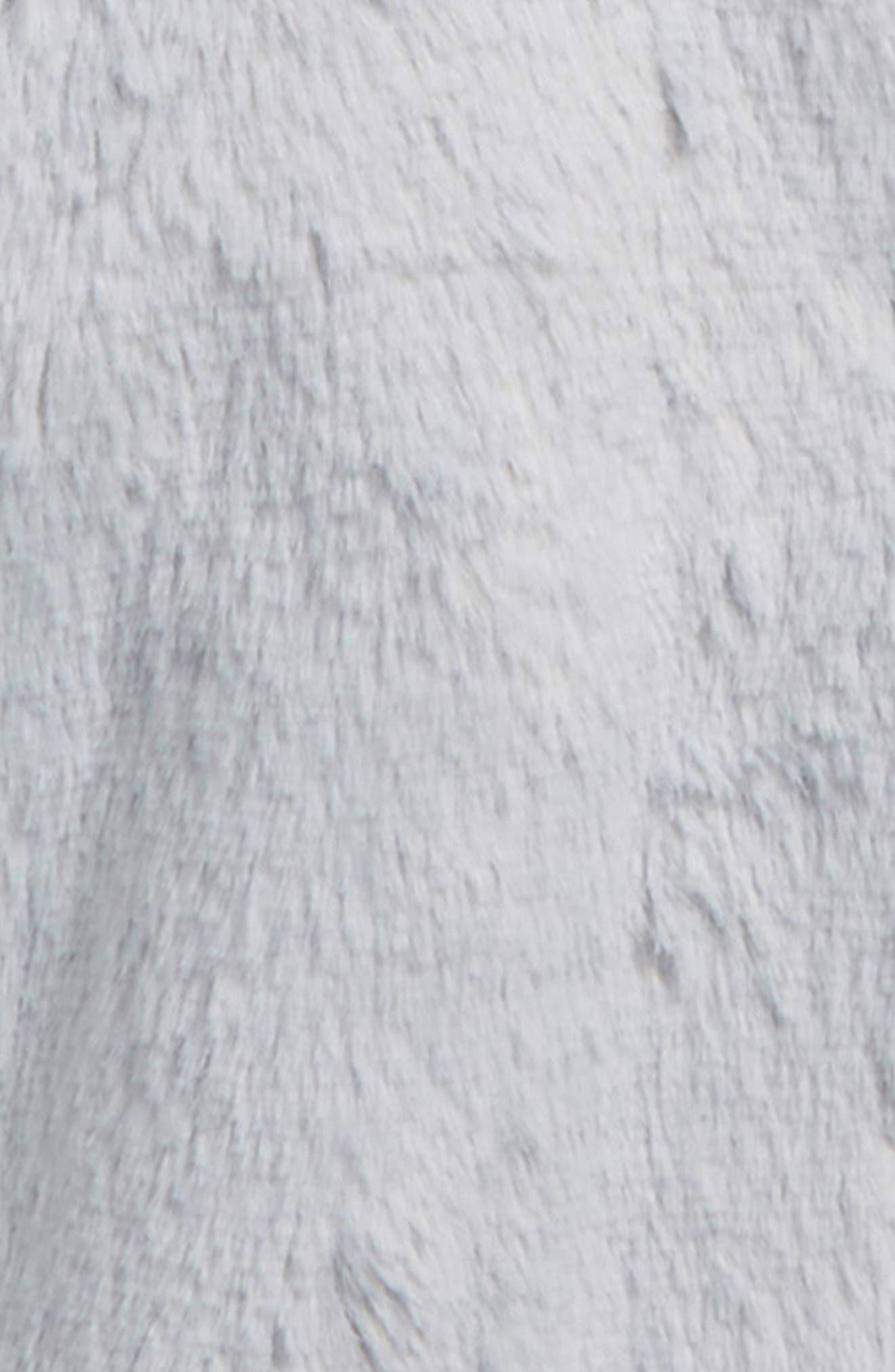 Fluffy Bear Hooded Jacket,                             Alternate thumbnail 2, color,                             GREY MICRO