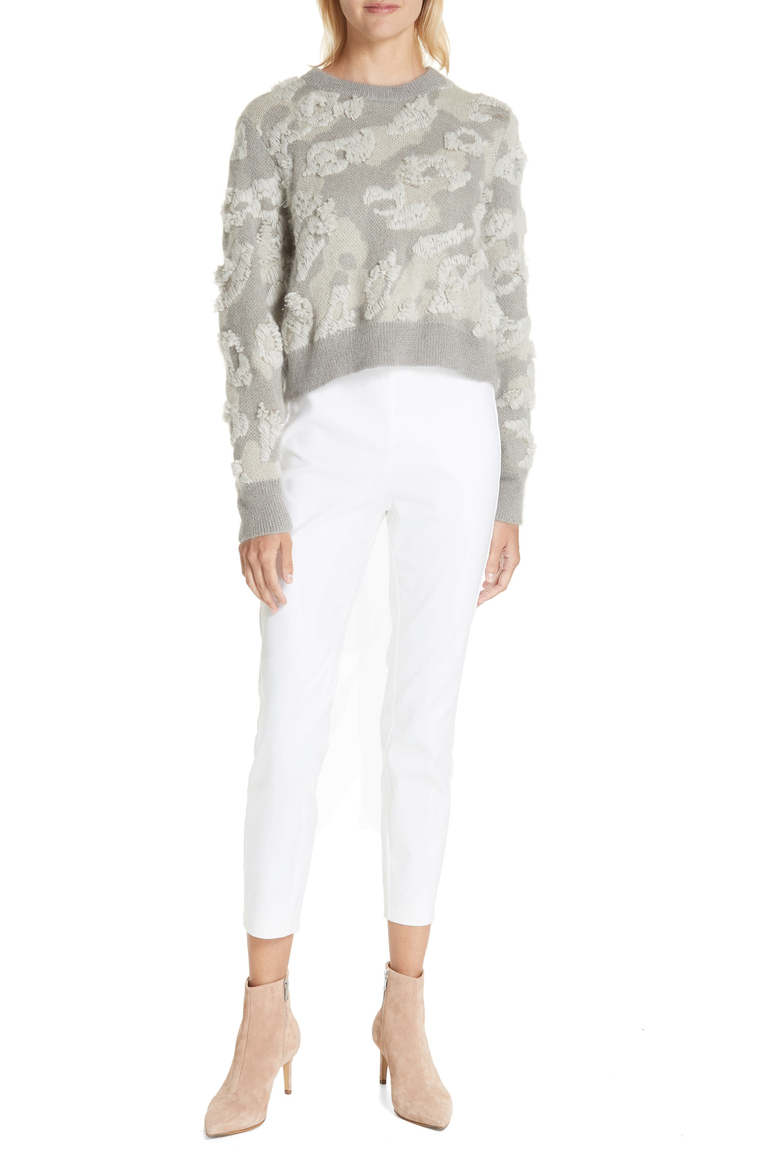 RAG & BONE,                             Embroidered Leopard Spot Sweater,                             Alternate thumbnail 7, color,                             900
