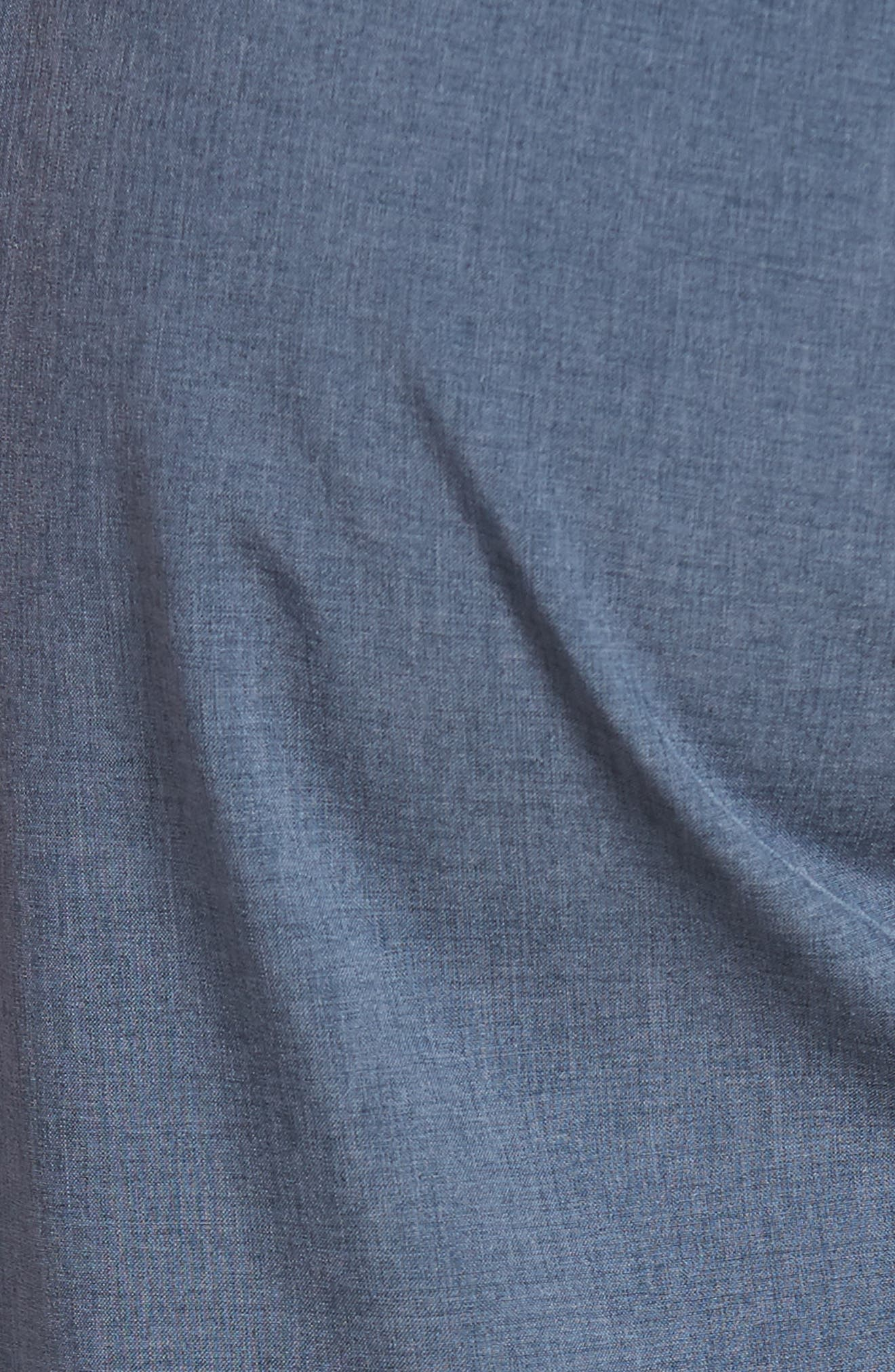 Banks Performance Hybrid Shorts,                             Alternate thumbnail 5, color,                             AZURE LINEN TEXTURE
