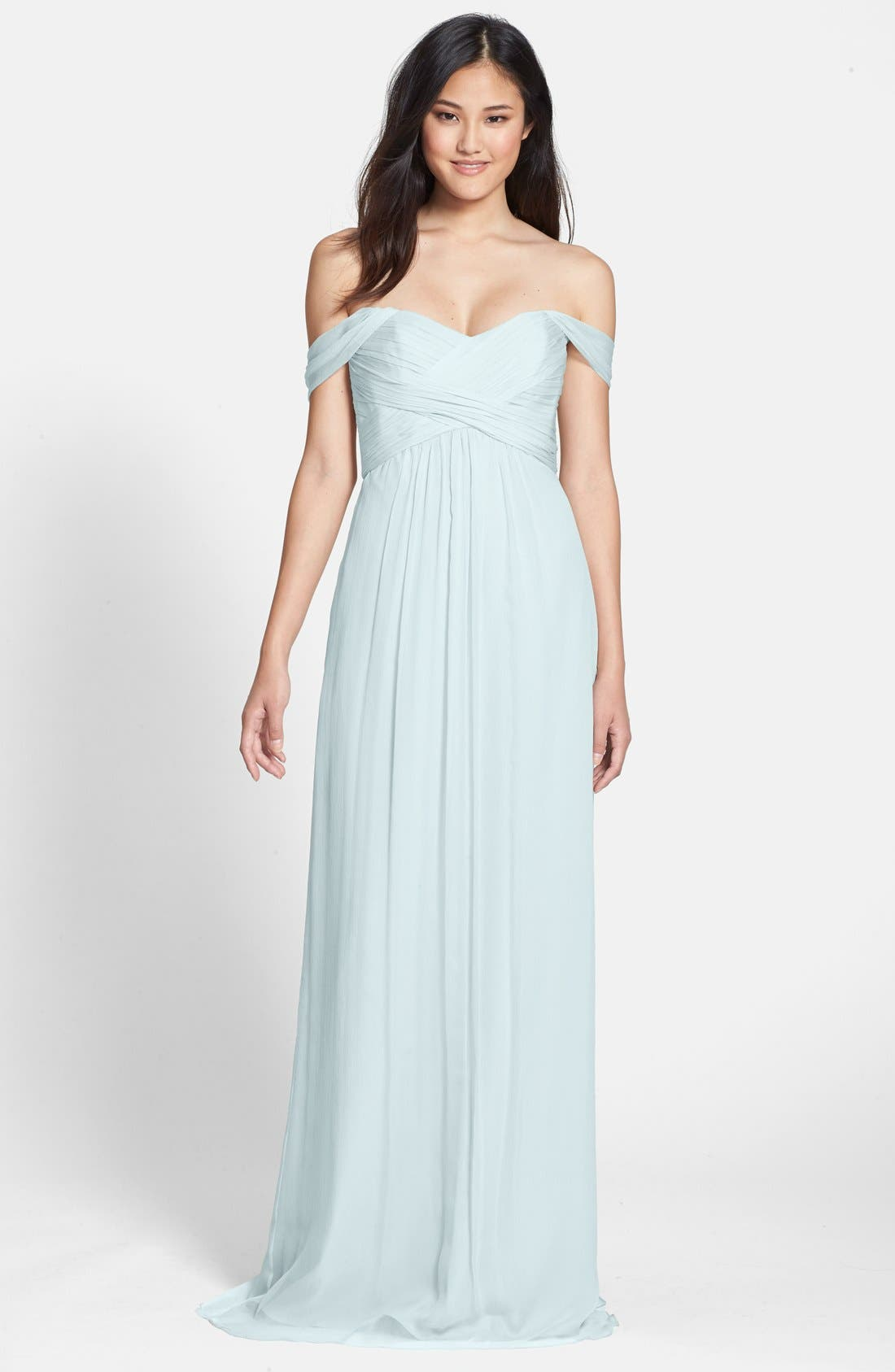 Convertible Crinkled Silk Chiffon Gown,                             Main thumbnail 4, color,