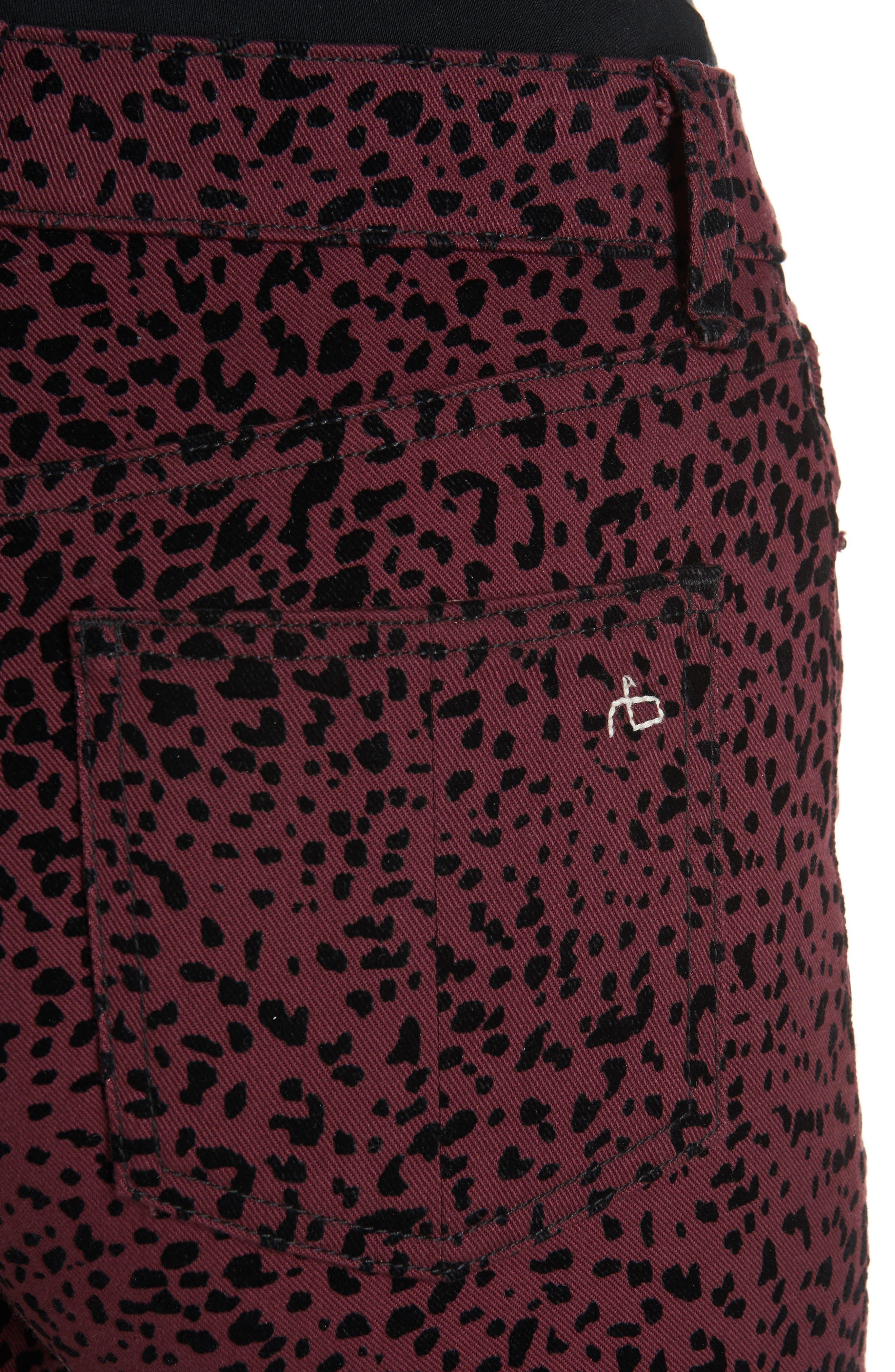Hana High Waist Crop Flare Jeans,                             Alternate thumbnail 4, color,                             930