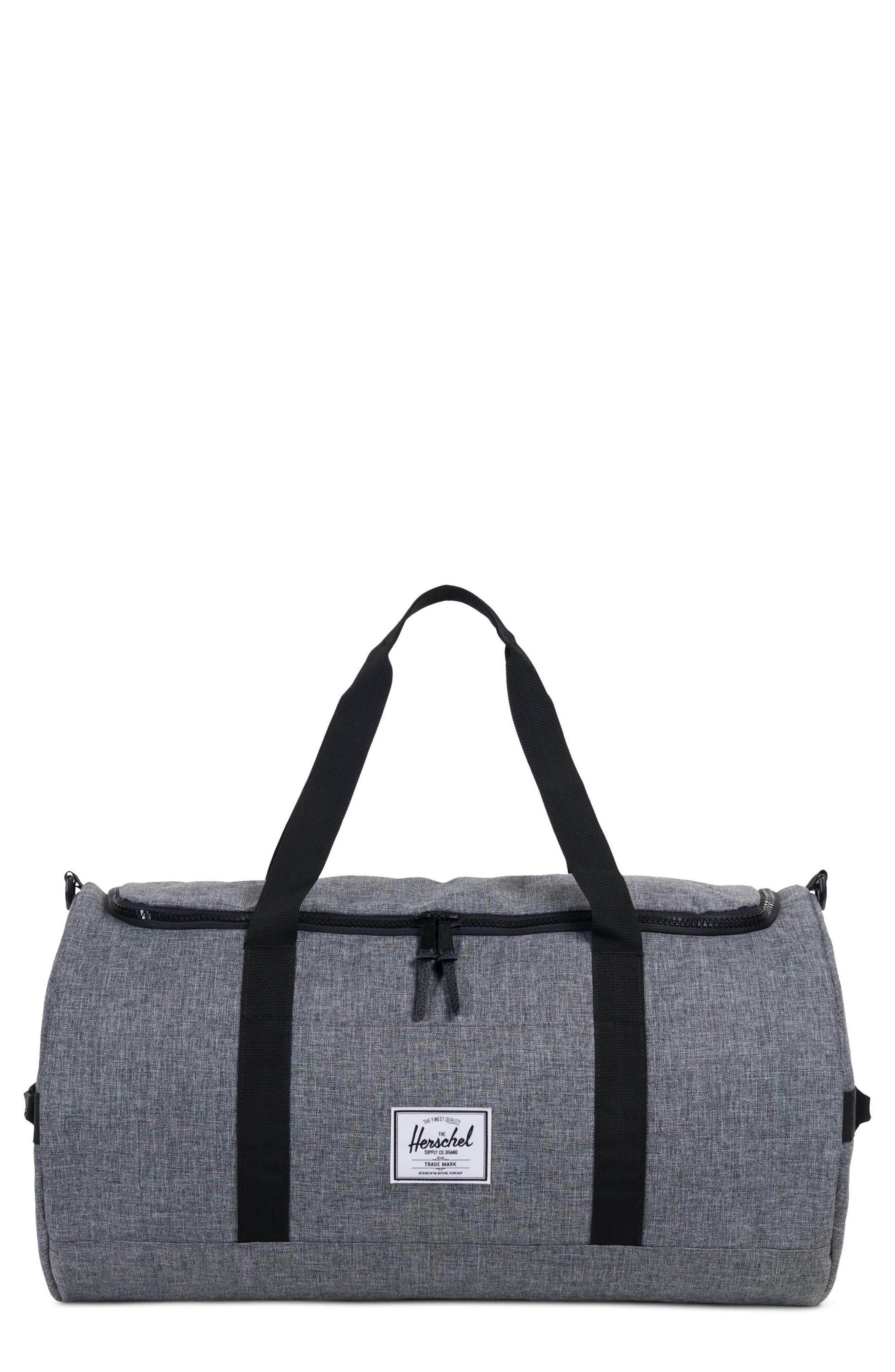 Sutton Duffel Bag,                         Main,                         color, RAVEN CROSSHATCH