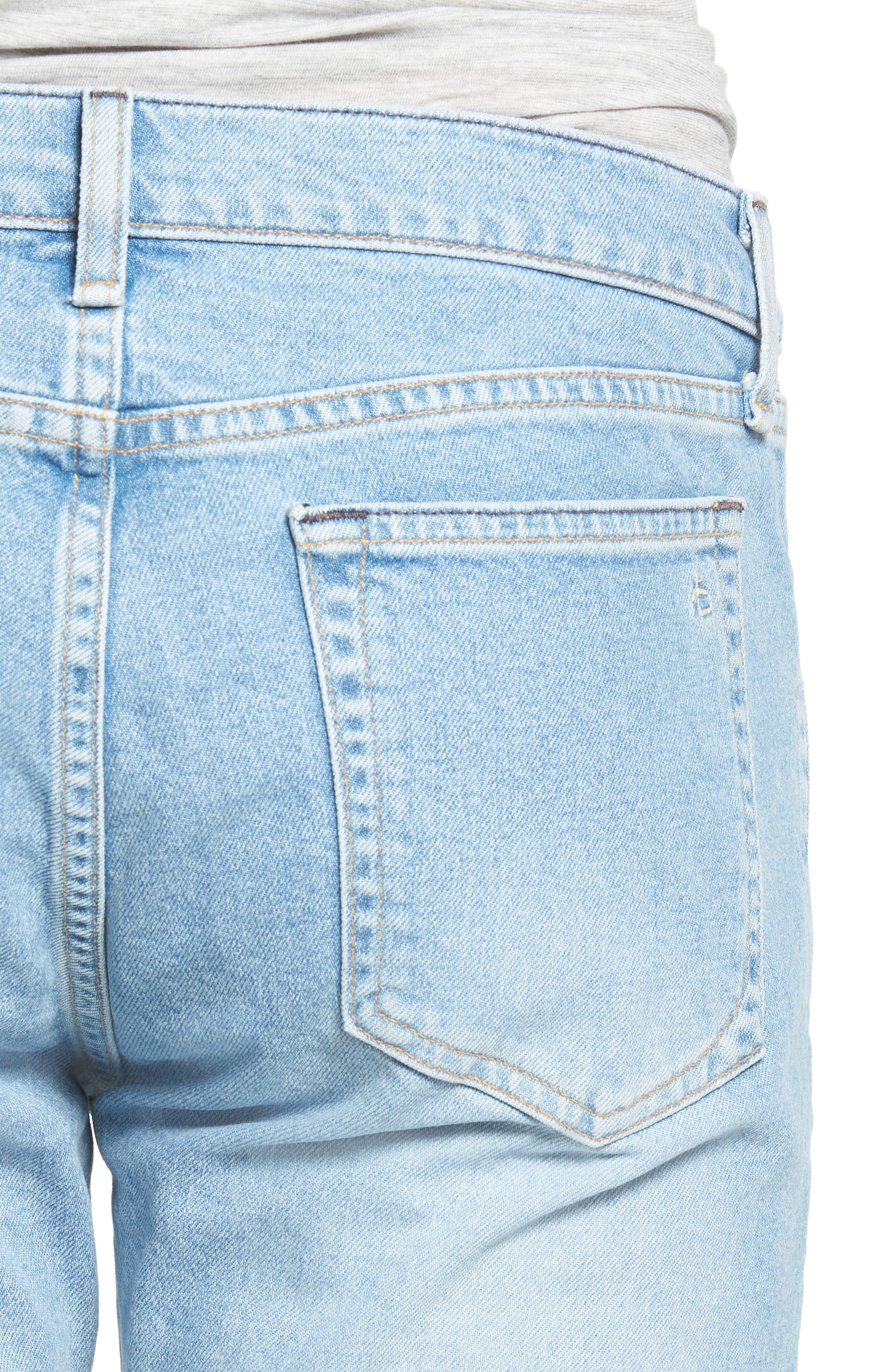 Fit 2 Slim Fit Jeans,                             Alternate thumbnail 4, color,                             MONTAUK W/ HOLE