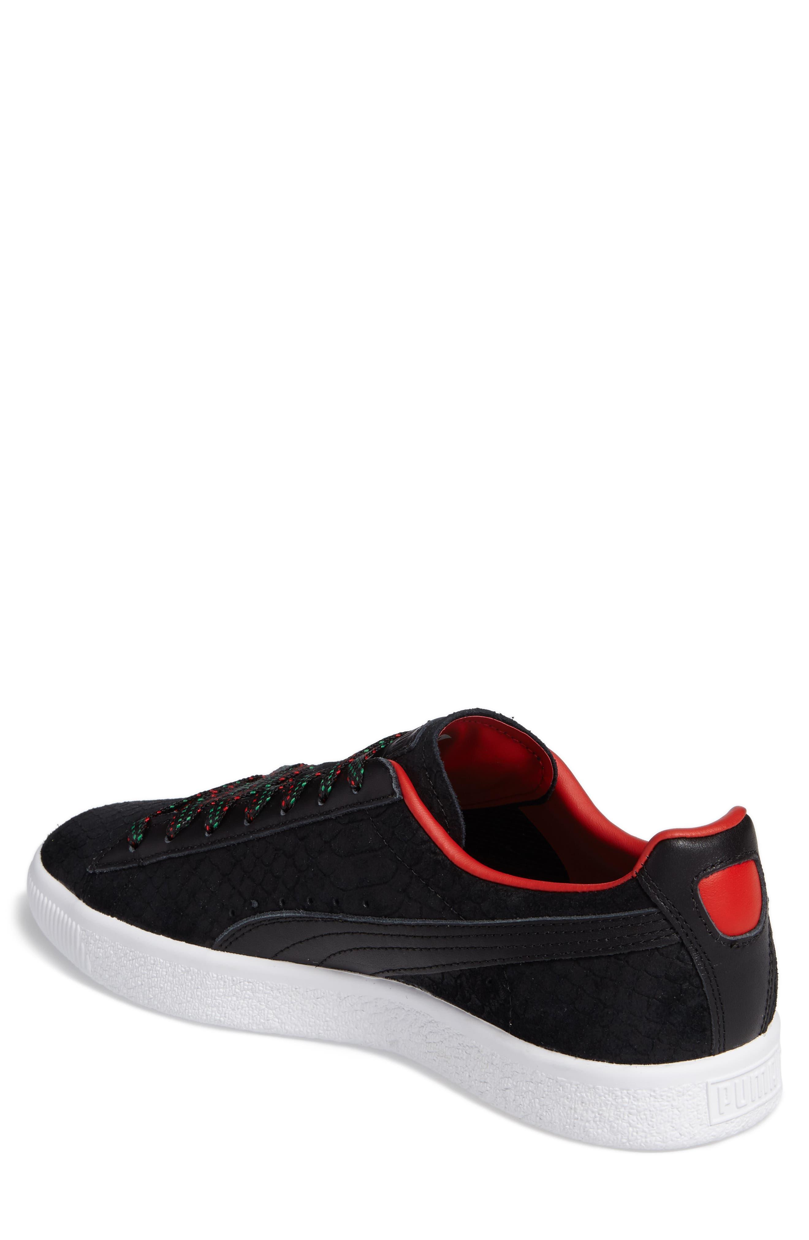 Clyde GCC Sneaker,                             Alternate thumbnail 2, color,                             001