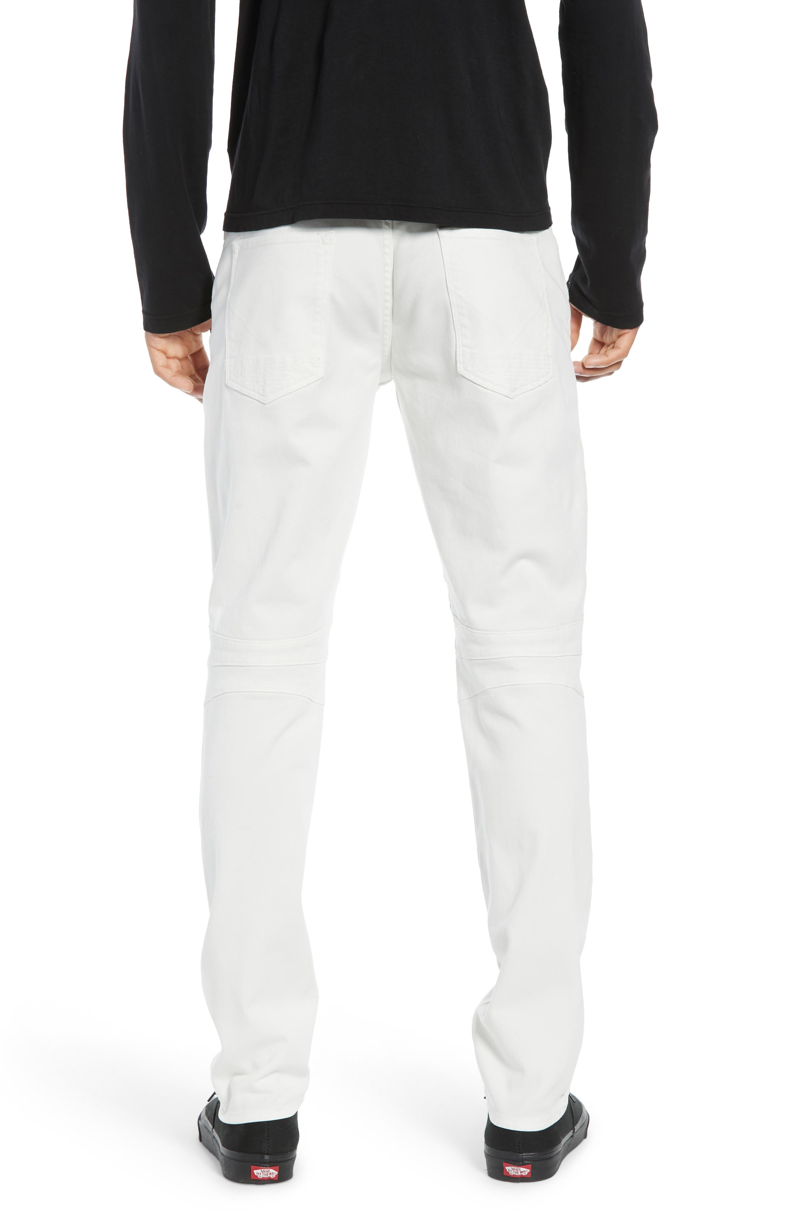 Blinder Biker Skinny Fit Jeans,                             Alternate thumbnail 2, color,                             DIRTY WHITE