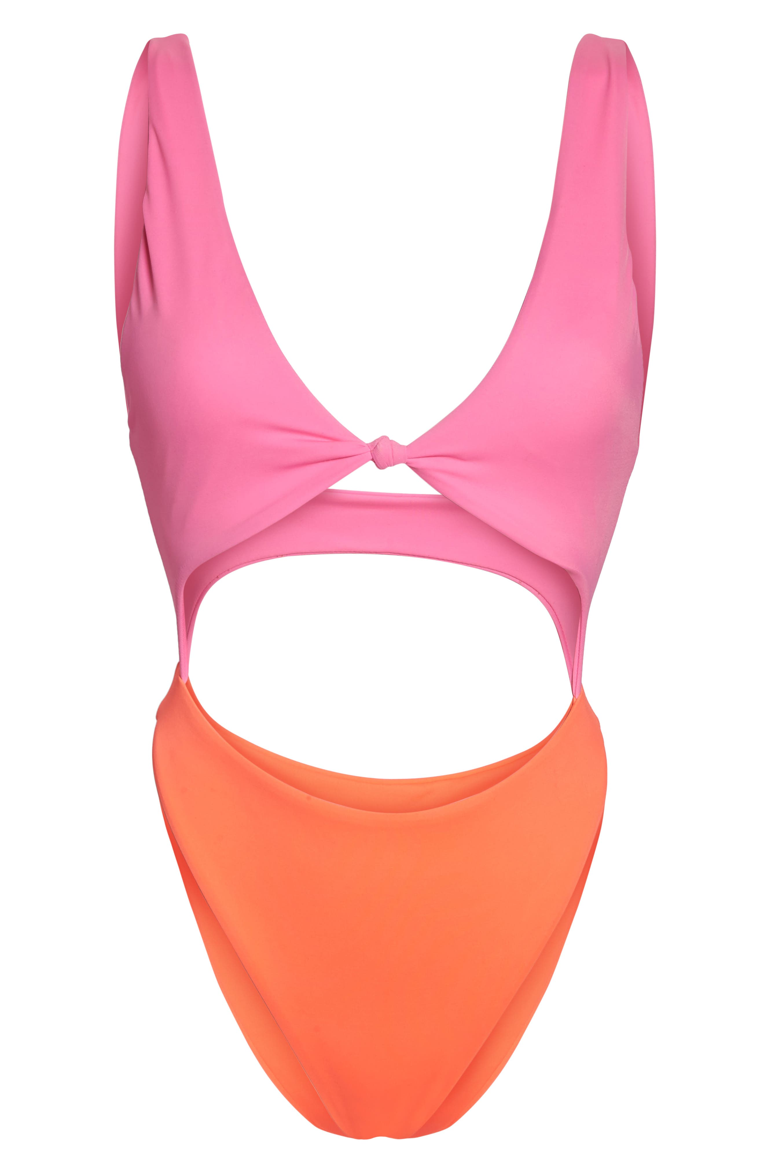 Colorblock One-Piece Swimsuit,                             Alternate thumbnail 7, color,
