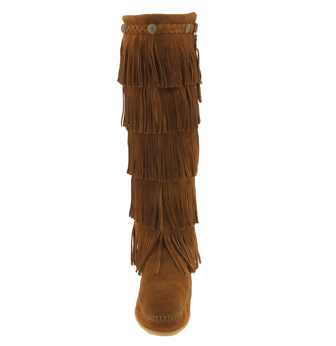 '5 Layer Fringe' Boot,                             Alternate thumbnail 3, color,                             BROWN