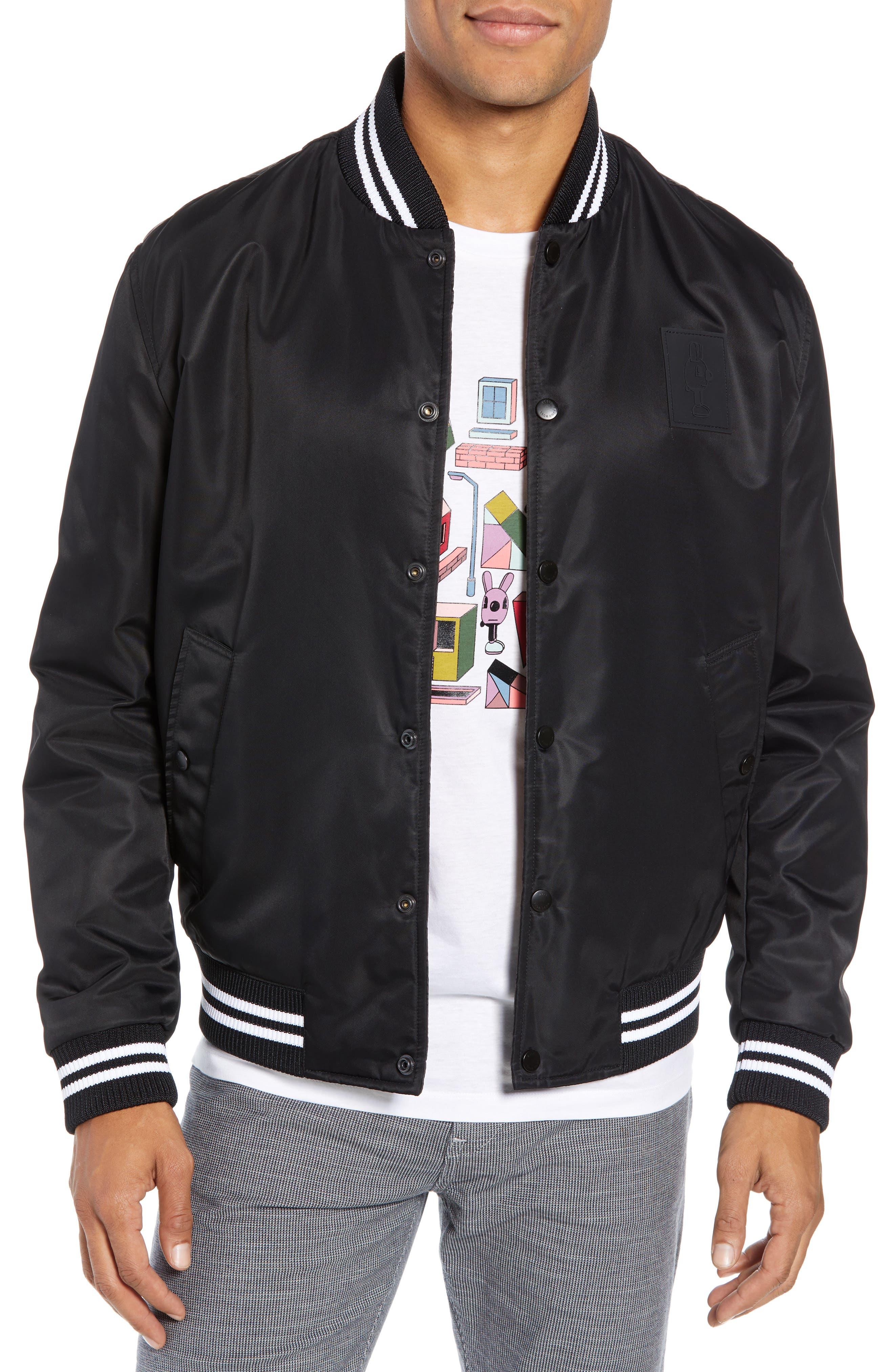 X Jeremyville Ceremy Reversible Varsity Jacket by Boss