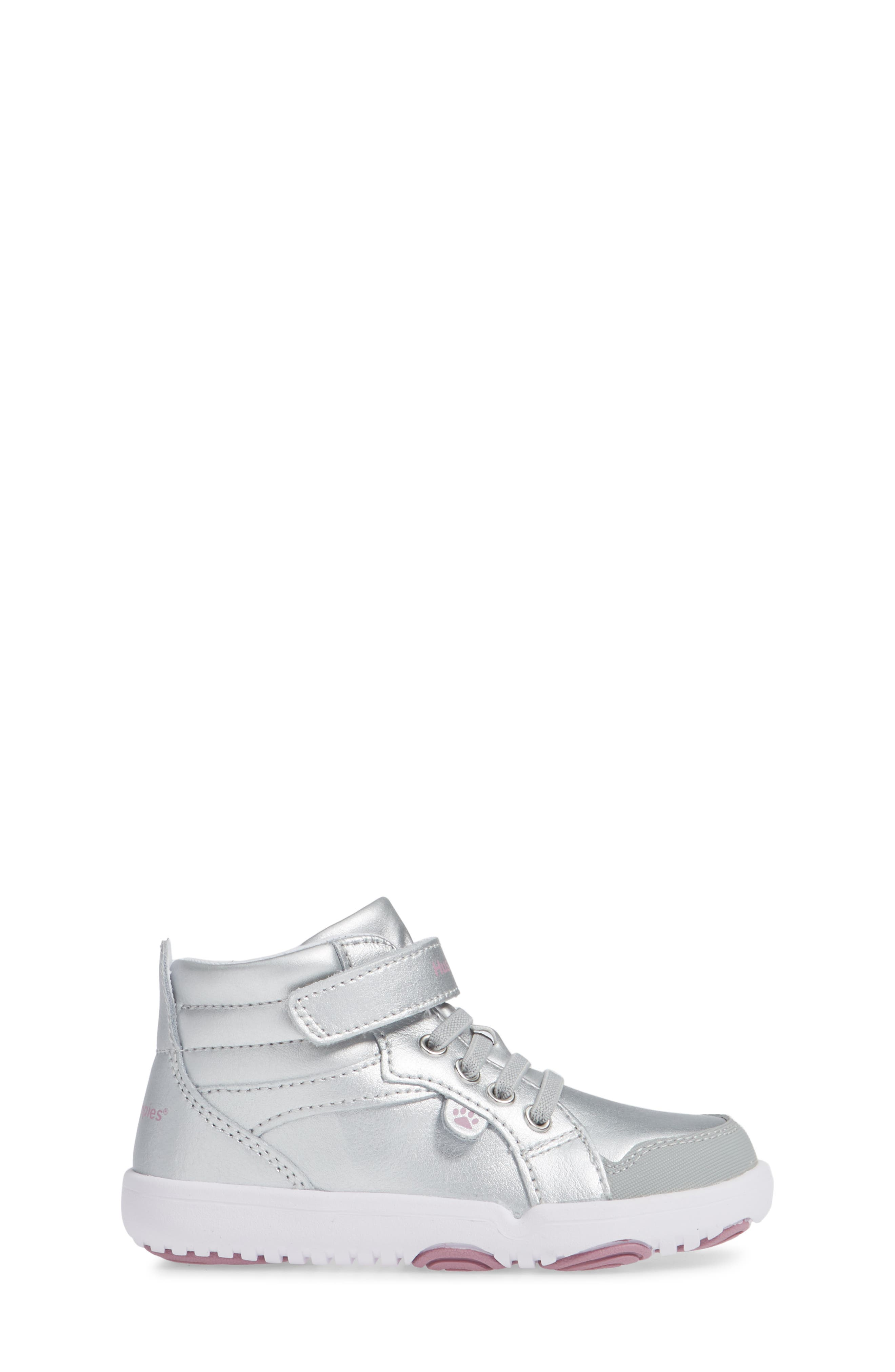 Buddy High Top Sneaker,                             Alternate thumbnail 3, color,                             SILVER