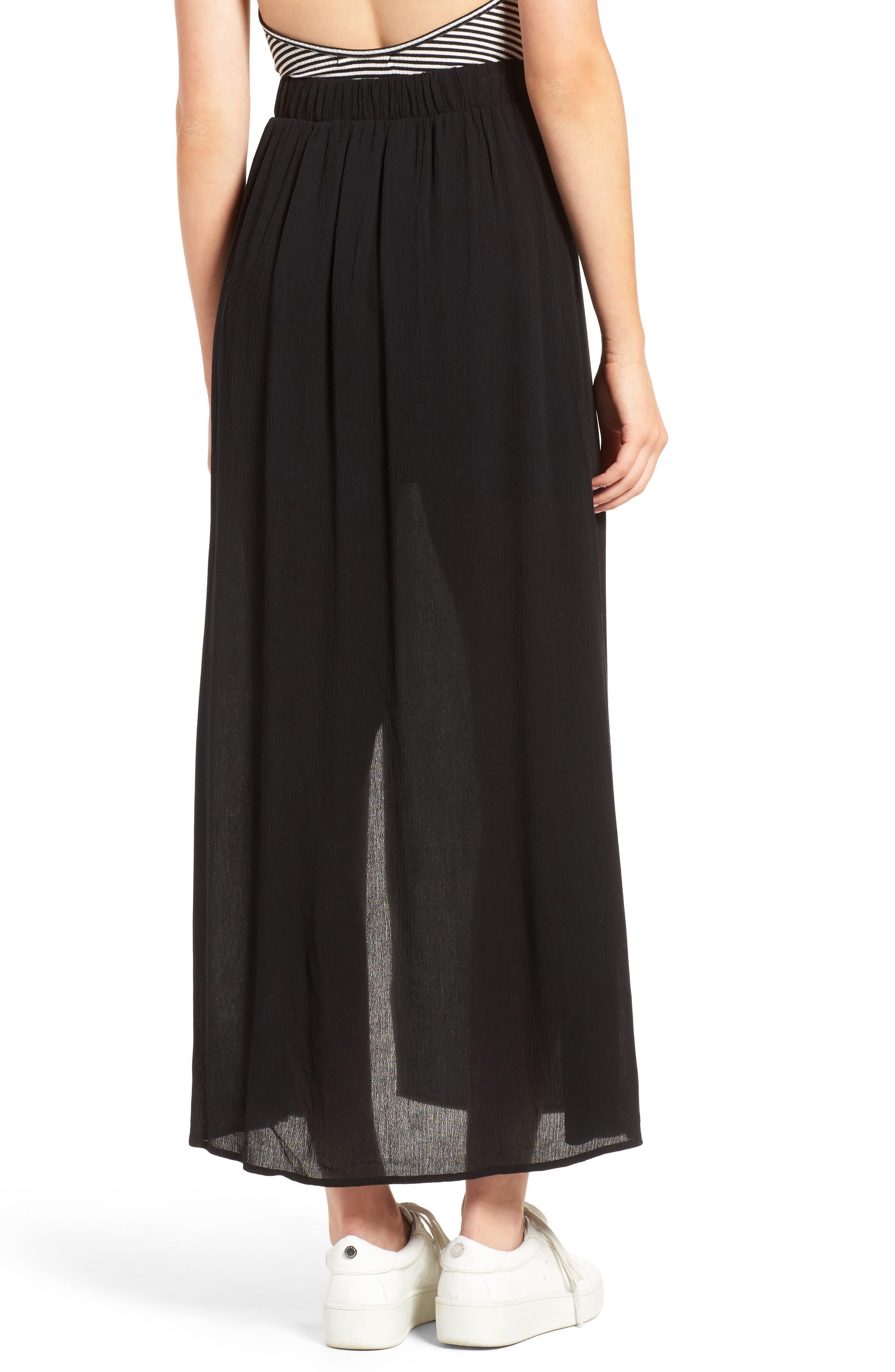 Slit Maxi Skirt,                             Alternate thumbnail 2, color,                             001