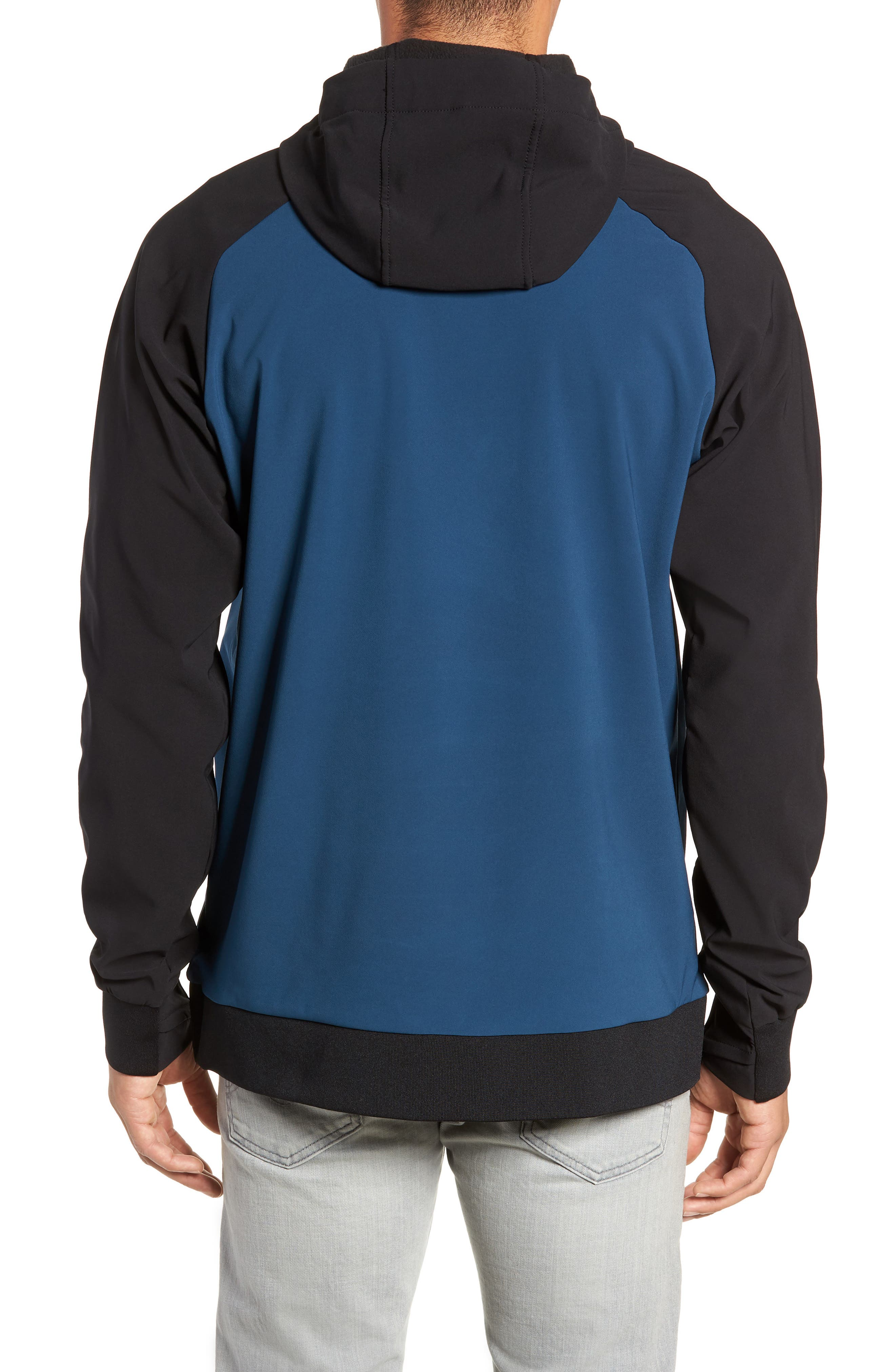 Tekno Pullover Hoodie,                             Alternate thumbnail 2, color,                             BLUE WING TEAL/ TNF BLACK