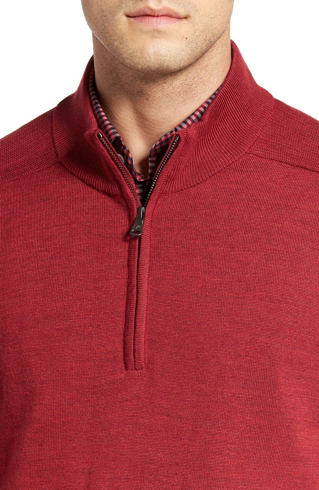 Douglas Quarter Zip Wool Blend Sweater,                             Alternate thumbnail 24, color,
