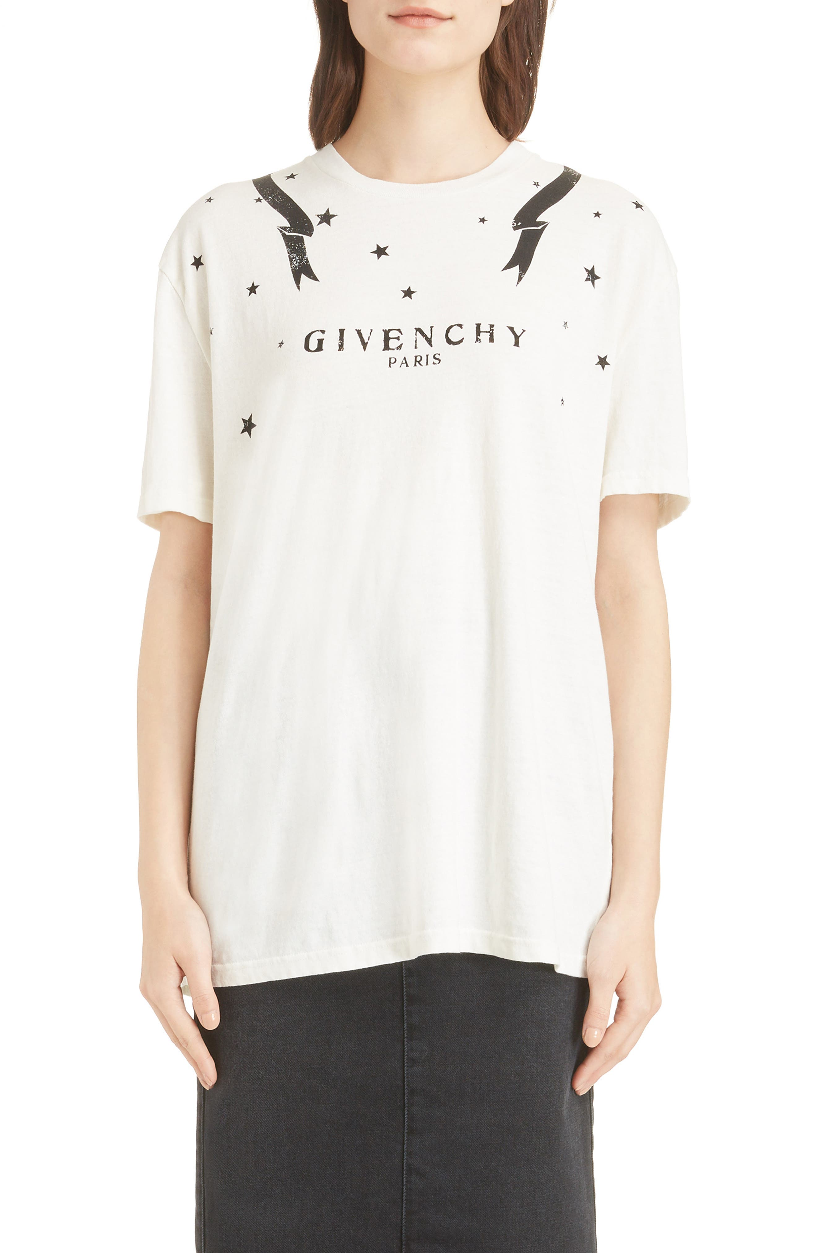 Gemini Back Graphic Tee,                             Main thumbnail 1, color,                             OFF WHITE