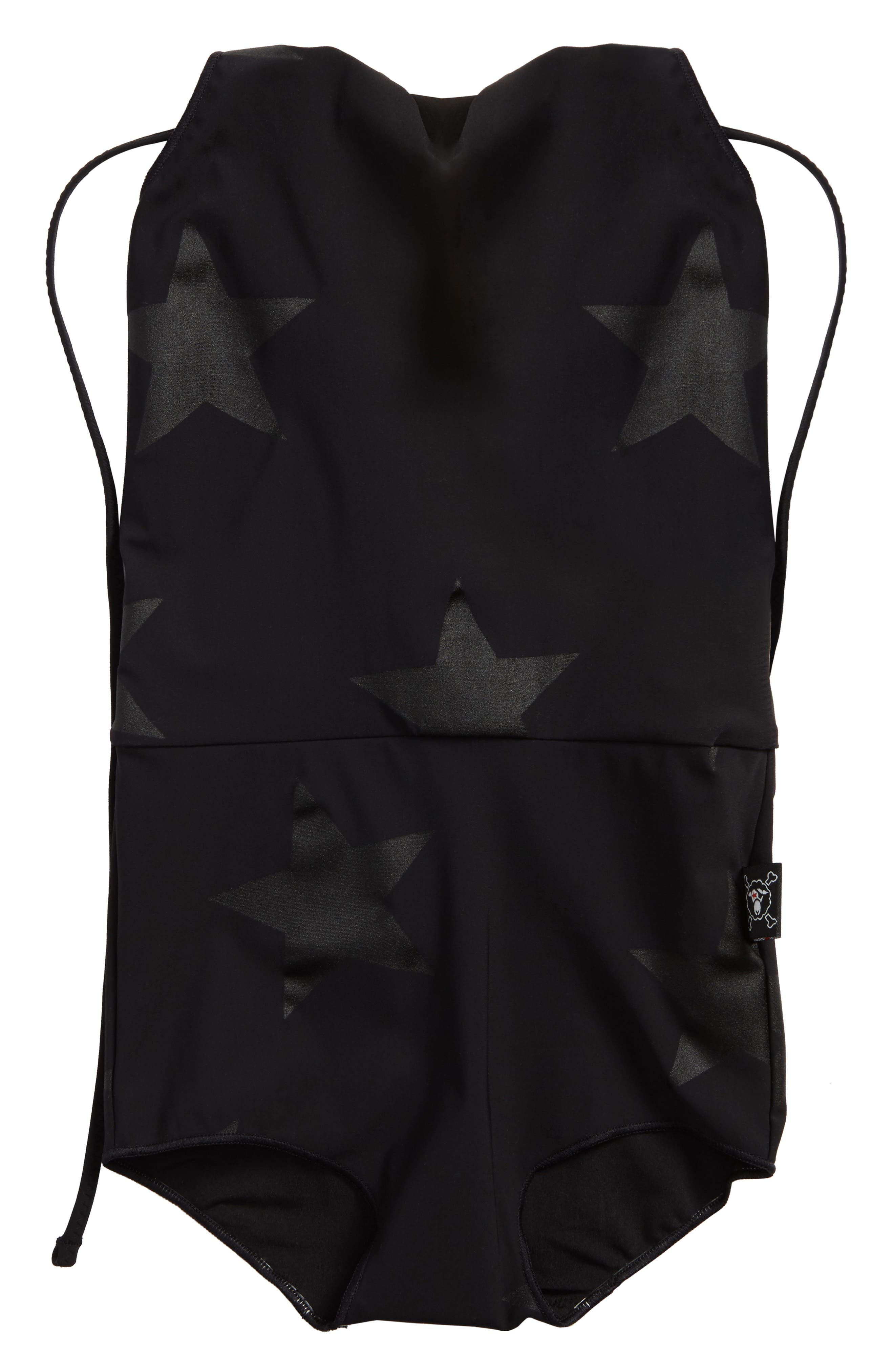Star Print One-Piece Swimsuit,                         Main,                         color,