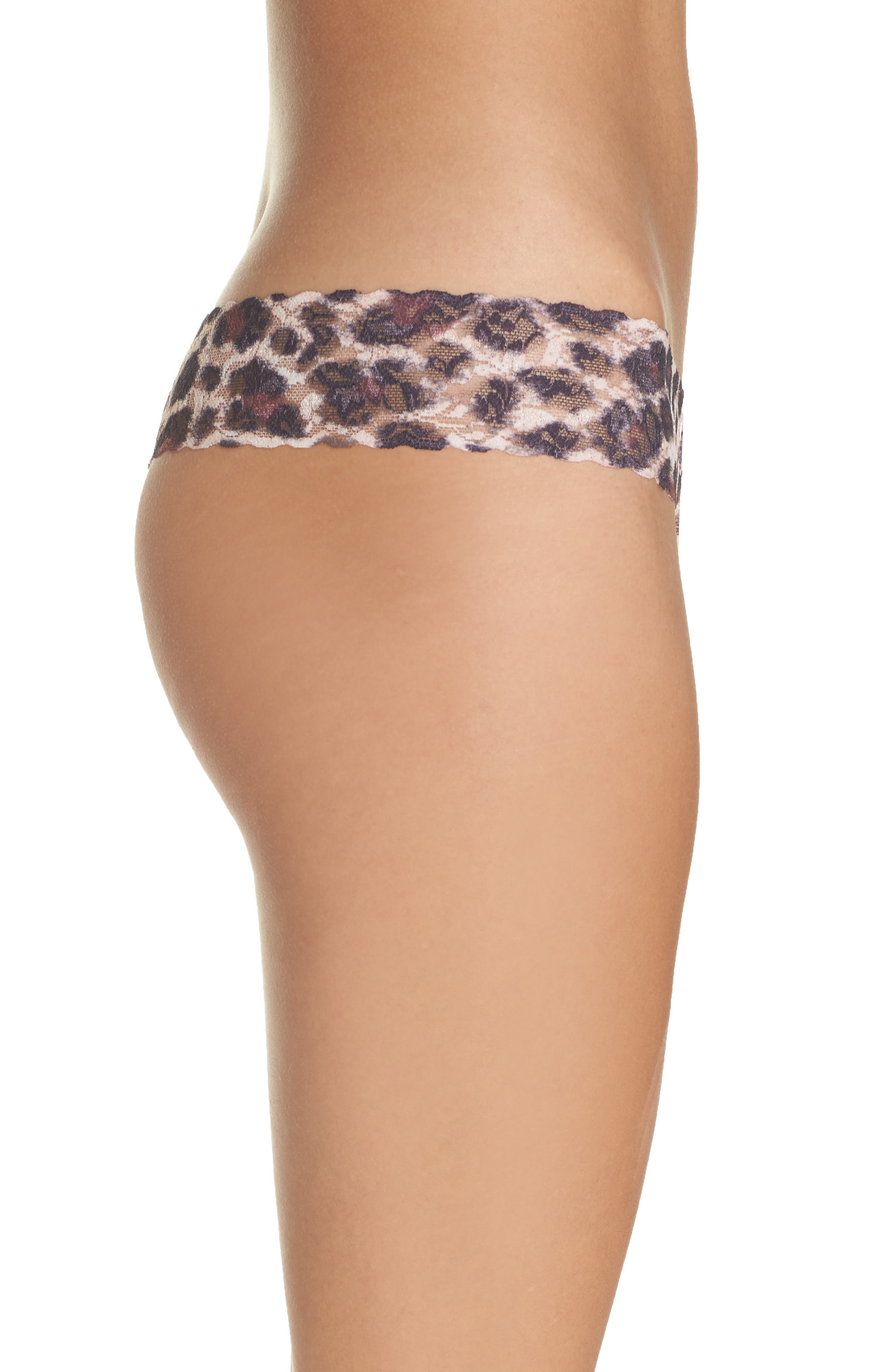 Print Original Rise Thong,                             Alternate thumbnail 3, color,                             SOPHISTICATE