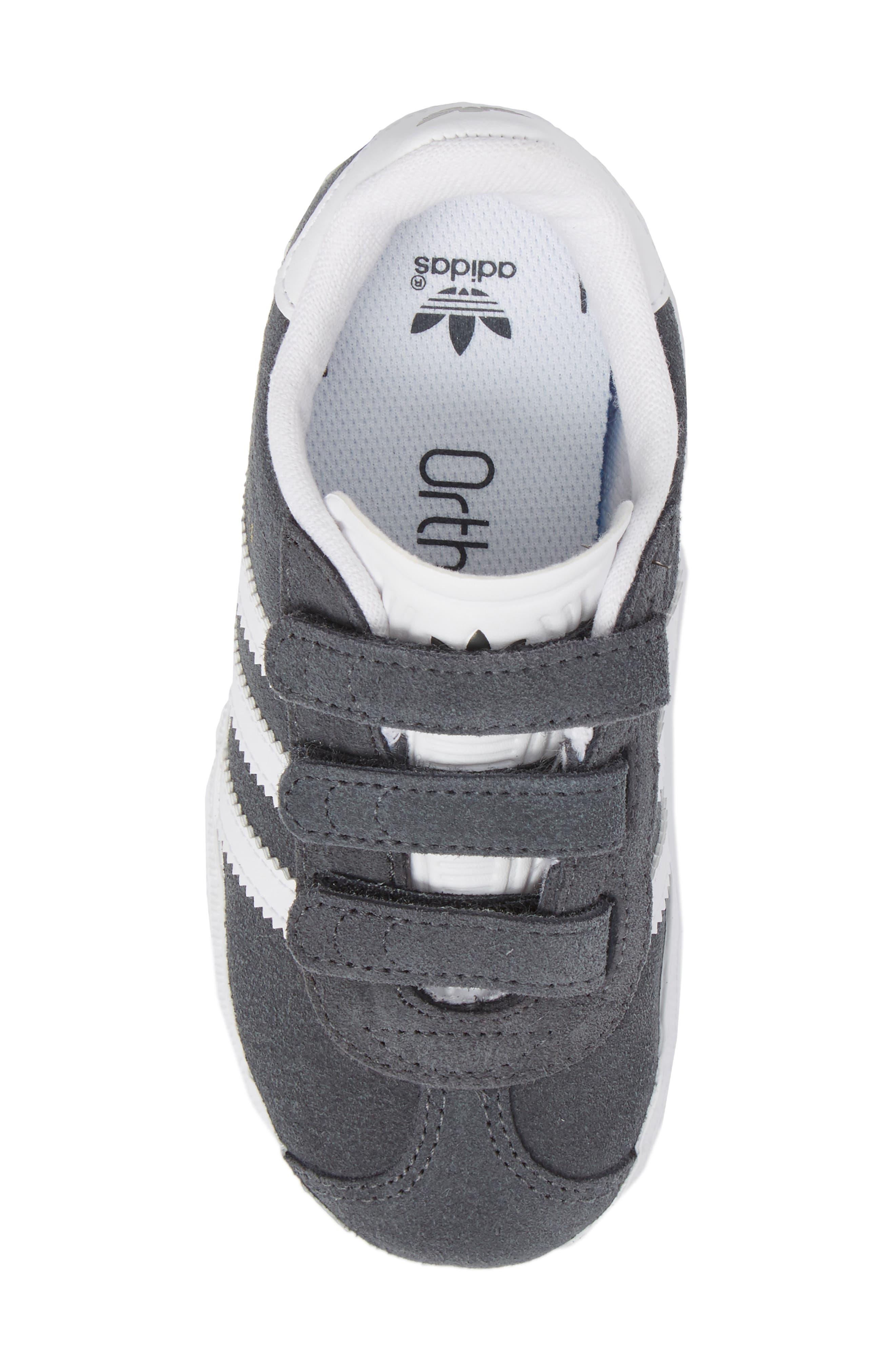 Gazelle Sneaker,                             Alternate thumbnail 5, color,                             SOLID GREY / WHITE / WHITE
