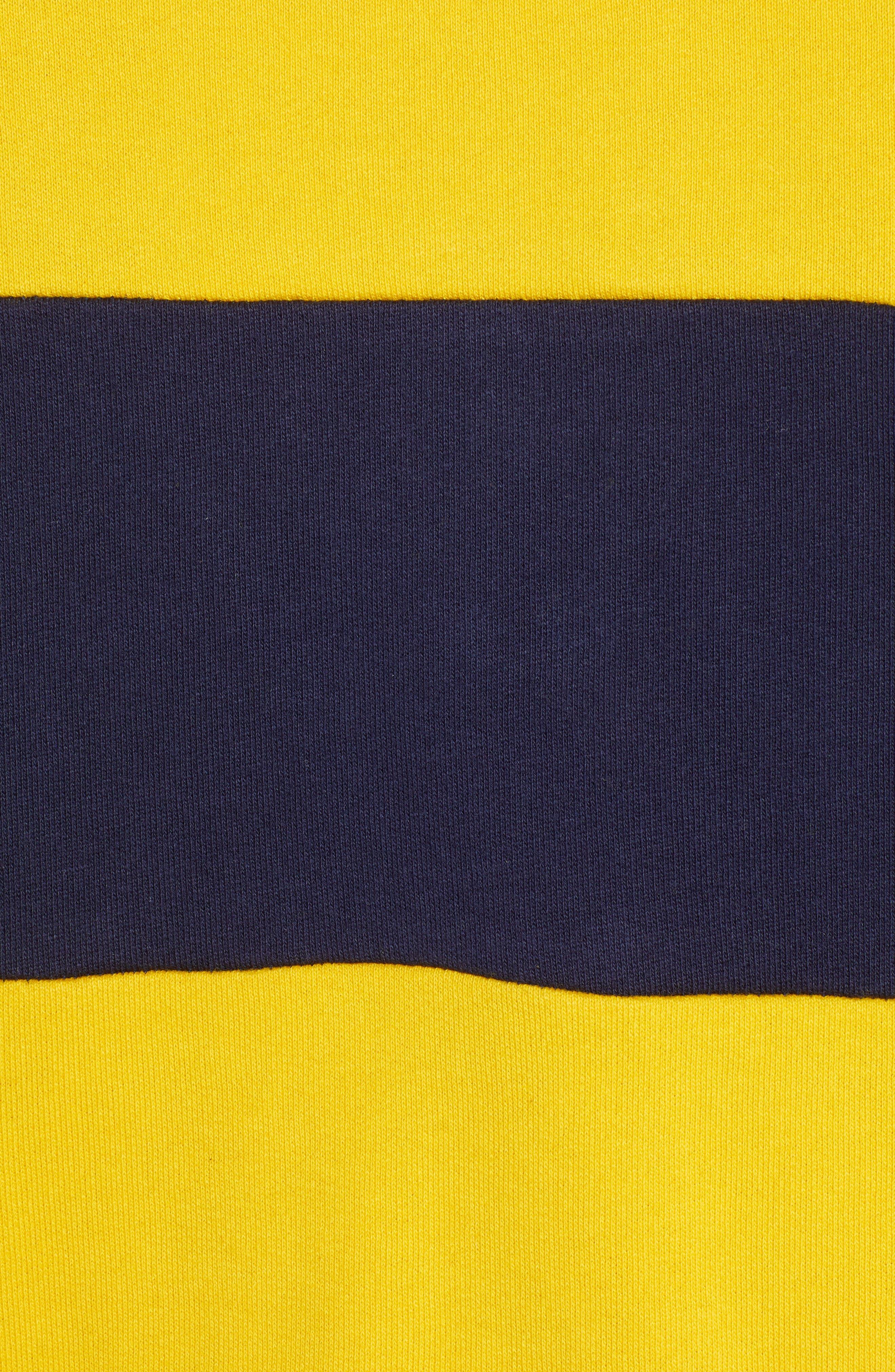 TJM Big Stripe Crew Shirt,                             Alternate thumbnail 5, color,                             BLACK IRIS / SPECTRA YELLOW